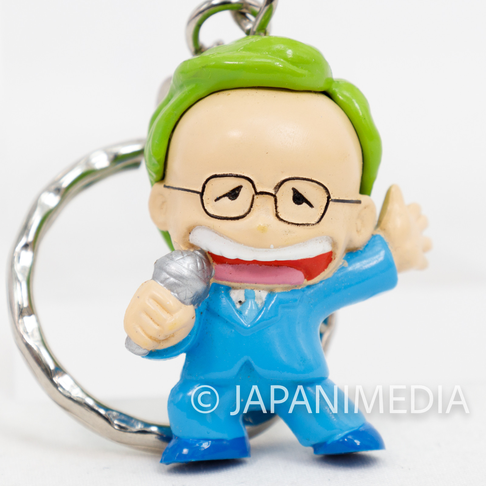 KINNIKUMAN Aderans Nakano Announcer Figure Key Chain Ultimate Muscle