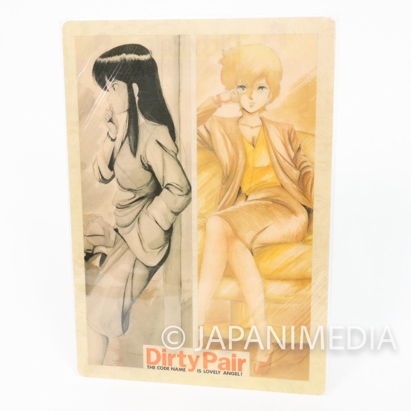 Dirty Pair Kei & Yuri Plastic Pencil Board Pad Shitajiki JAPAN ANIME 2