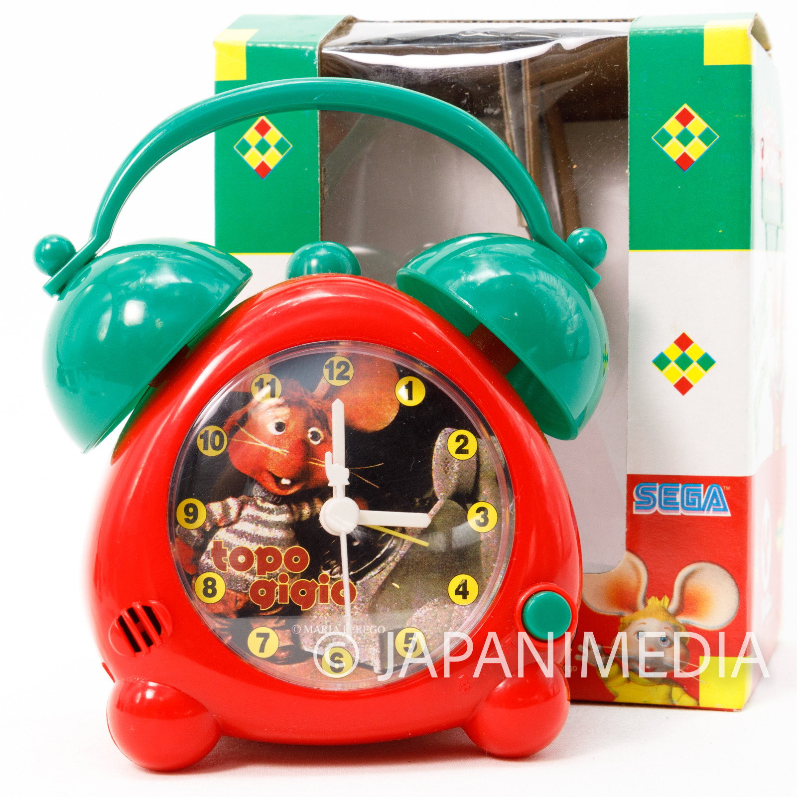 Topo Gigio Toy Alarm Clock SEGA JAPAN ANIME