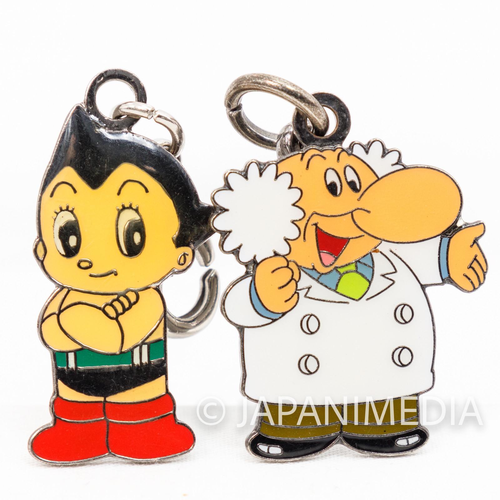 Astro Boy Atom Metal Charm Set Atom & Ochanomizu JAPAN
