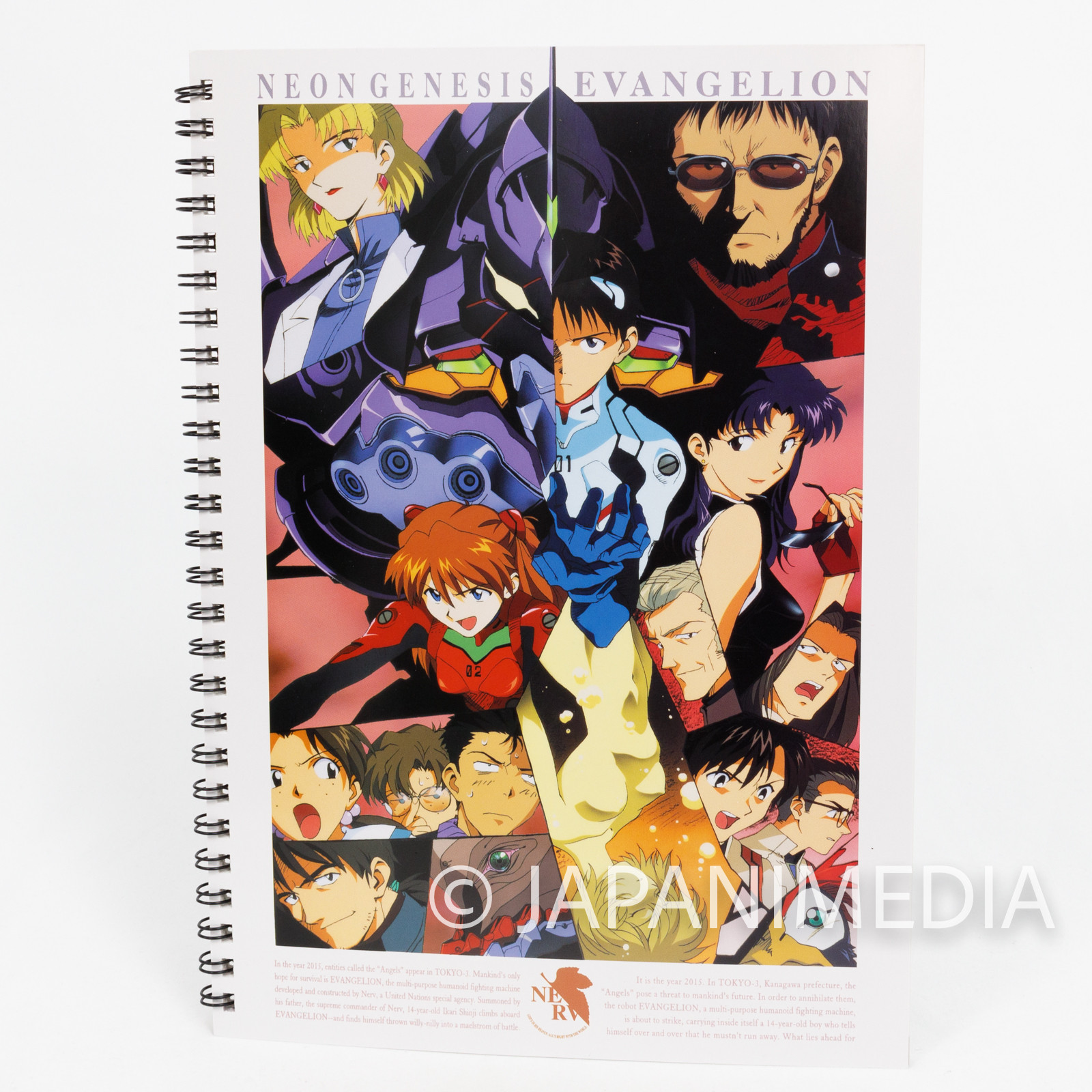 Retro Evangelion B5 size Ring Notebook JAPAN ANIME MANGA