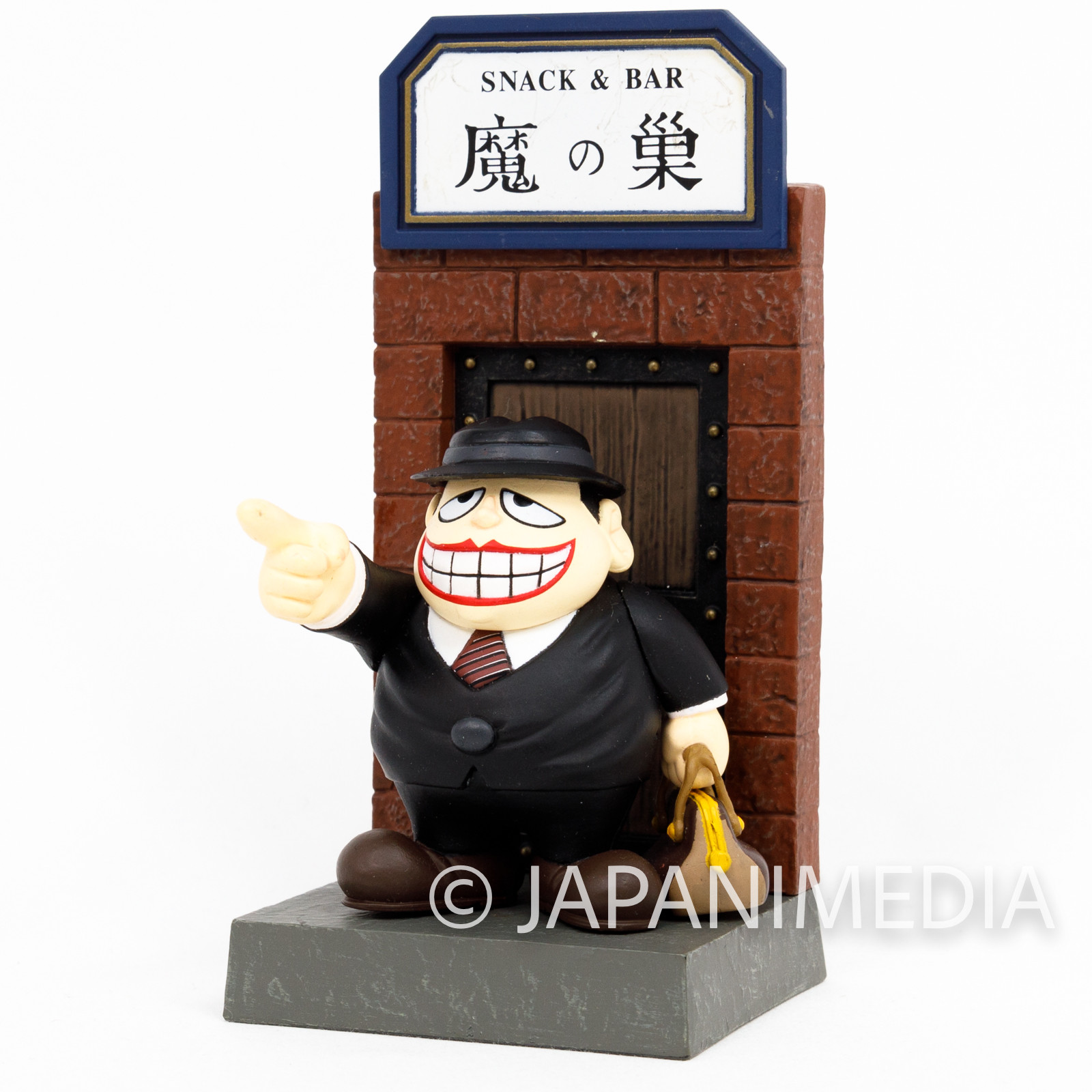 Warau Laughing Salesman Fukuzo Moguro Diorama Miniature Figure JAPAN ANIME