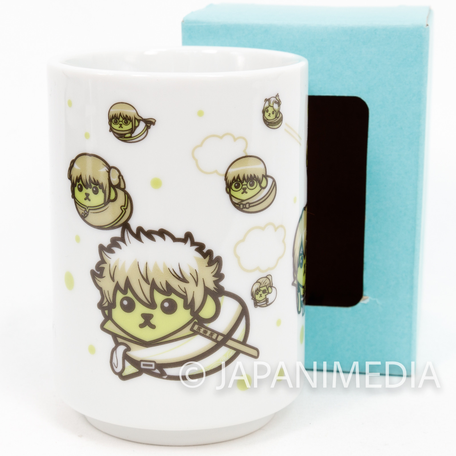 Gintama x Mameshiba Yunomi Japanease Tea Cup JAPAN ANIME