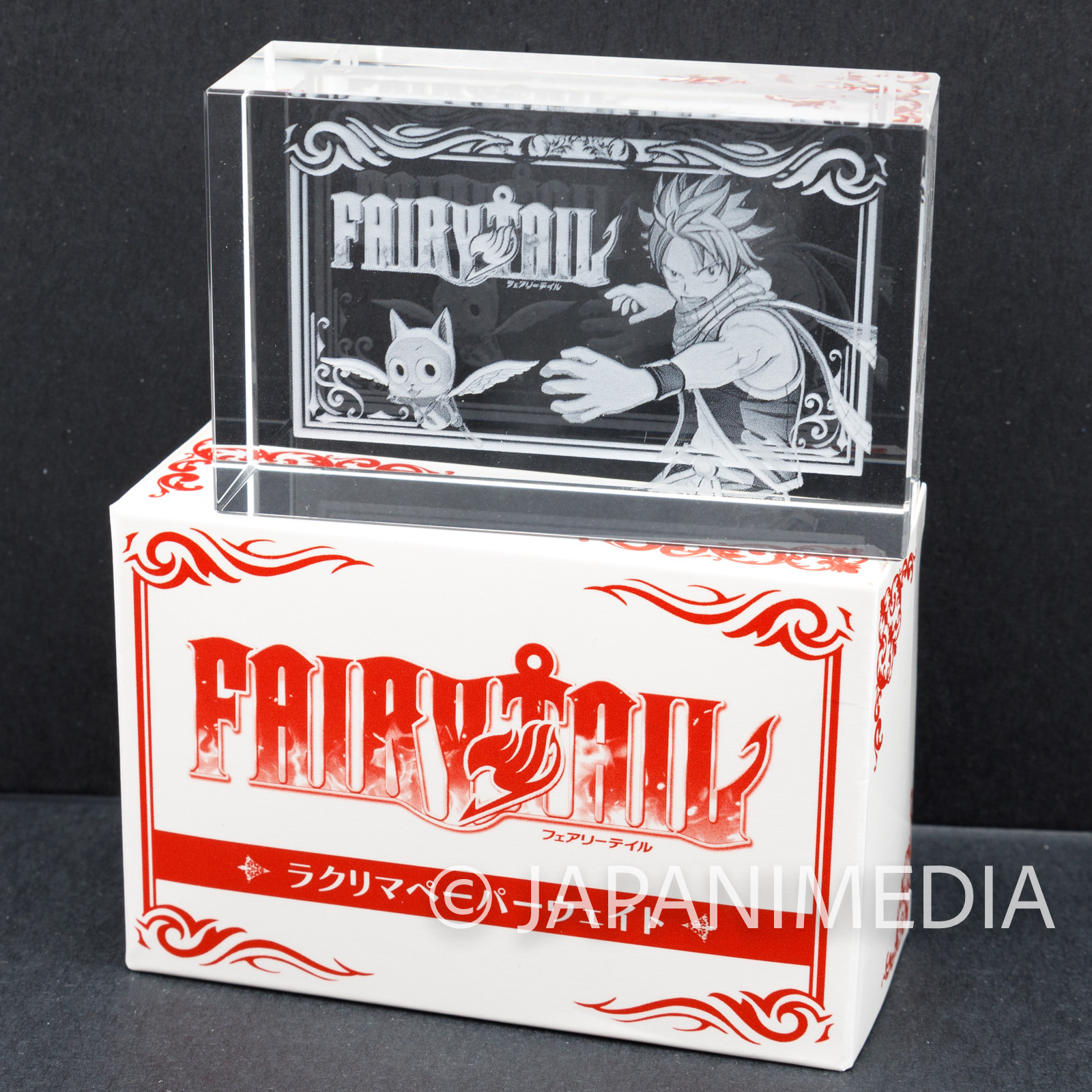 FAIRY TAIL Natsu Dragneel & Happy Paper Paper Weight JAPAN ANIME