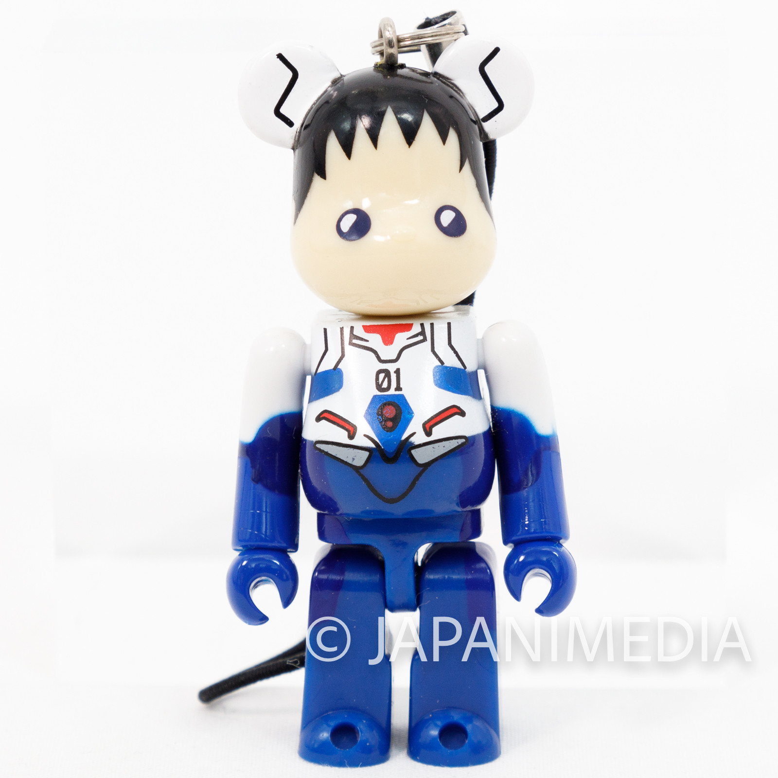 Evangelion Shinji Ikari Be@rbrick Bearbrick Mini Figure Strap Medicom Toy