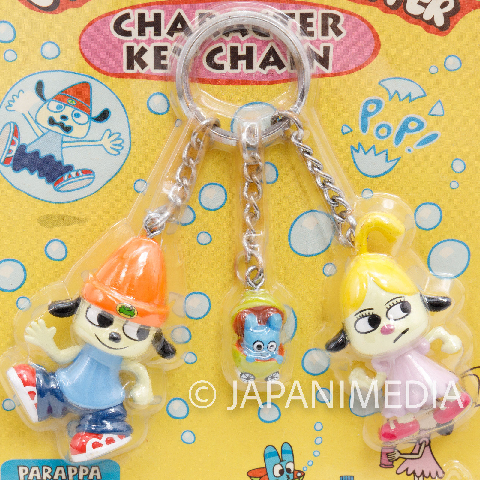 Parappa The Rapper Pinto Uee Triple Character Figure Key Chain JAPAN GAME