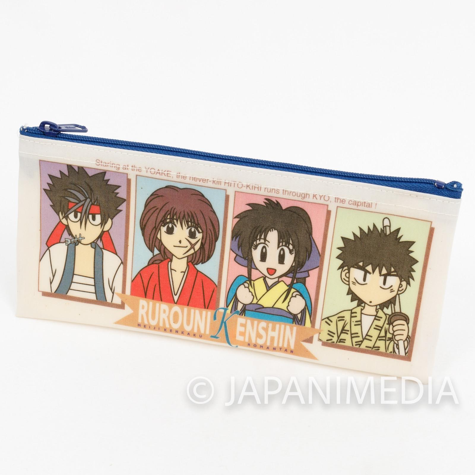 Rurouni Kenshin Soft Pen Case Sanosuke Yahiko Kaoru JAPAN ANIME