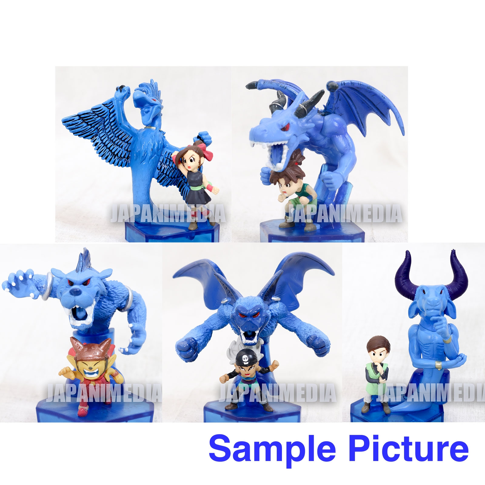Blue Dragon  Mini Figure 5pc Set Akira Toriyama JAPAN ANIME