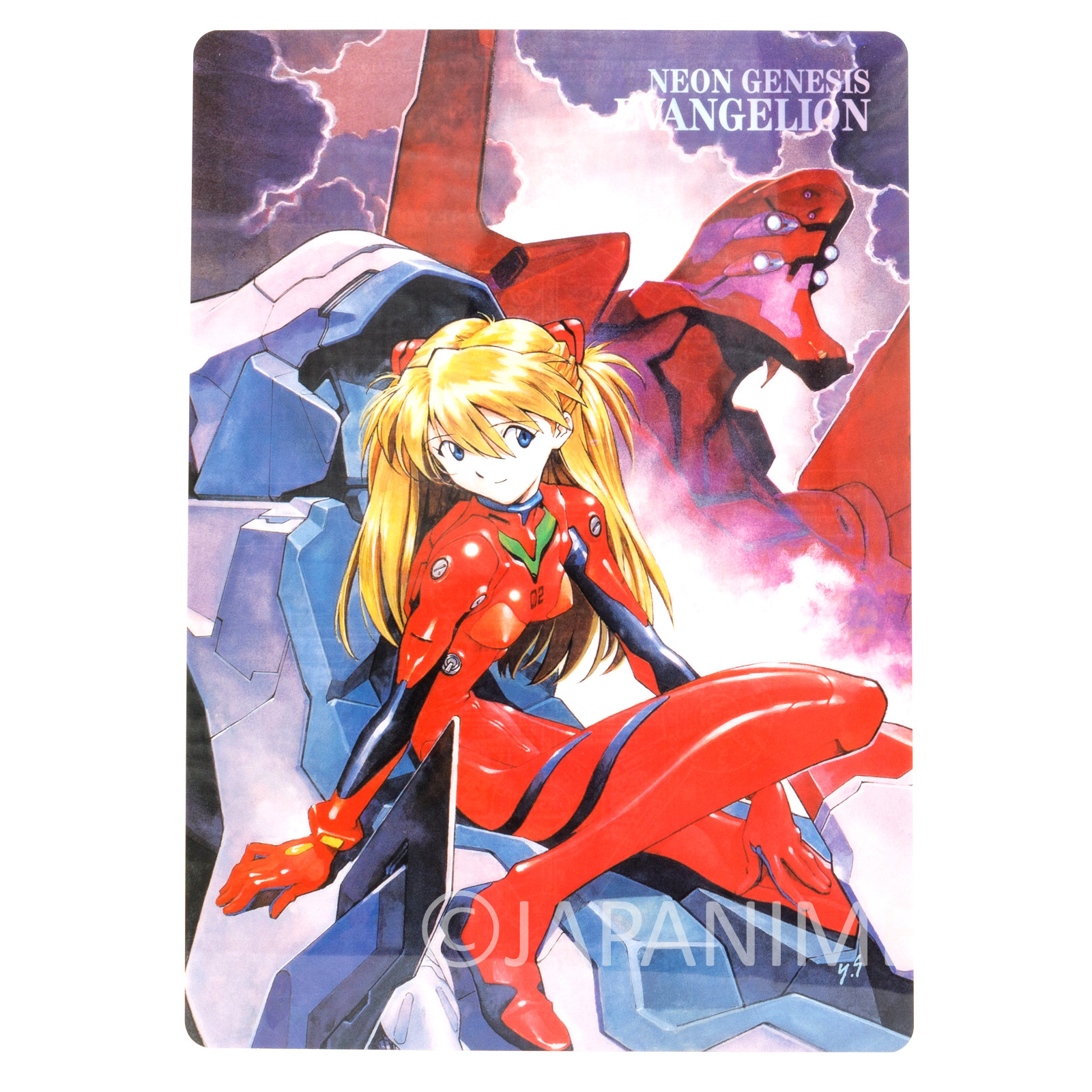 Evangelion Asuka Langley Plug Suit Plastic Pencil Board Pad Shitajiki JAPAN