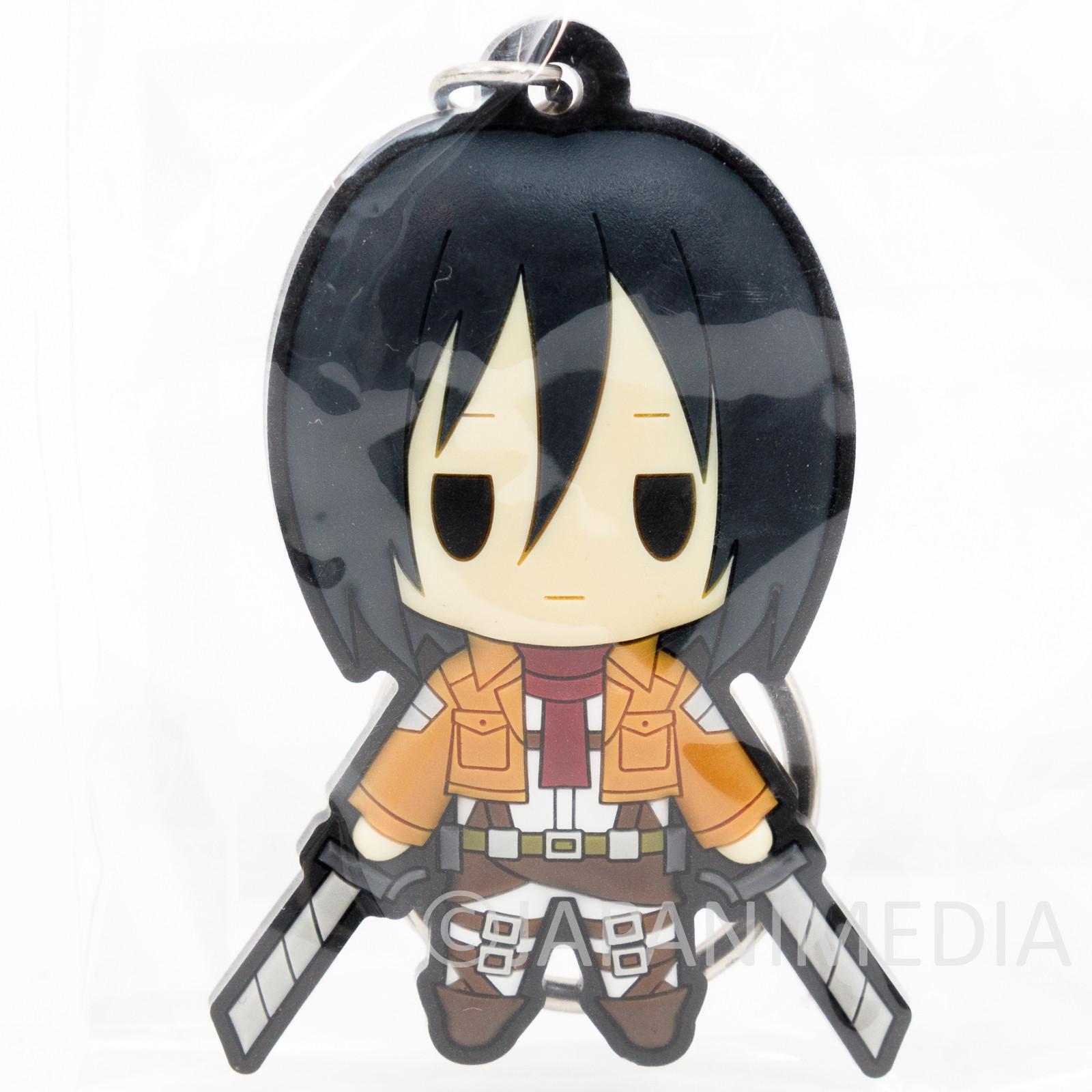 Attack on Titan Mikasa Ackerman Rubber Mascot Keychain JAPAN ANIME