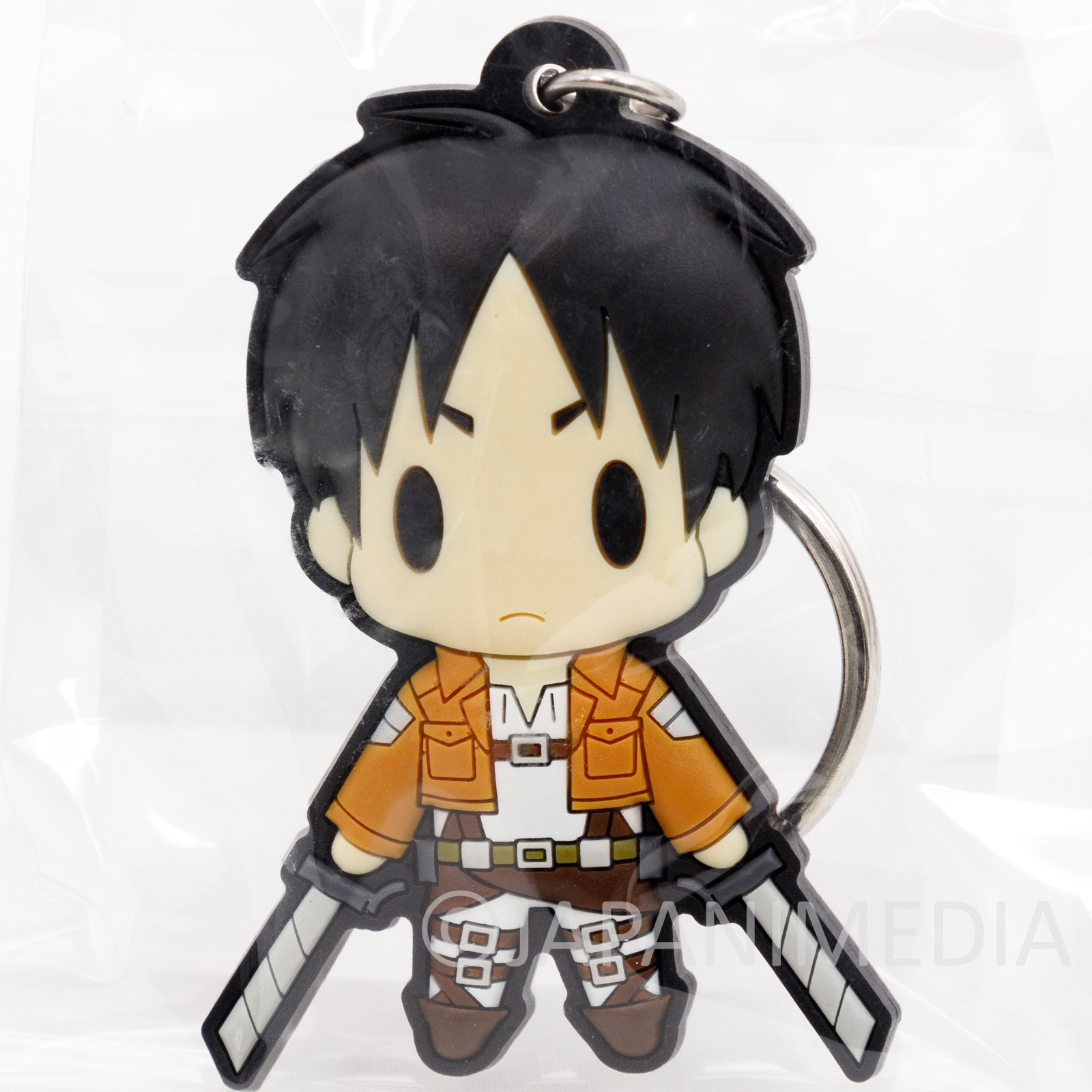 Attack on Titan Eren Yeager Rubber Mascot Keychain JAPAN ANIME