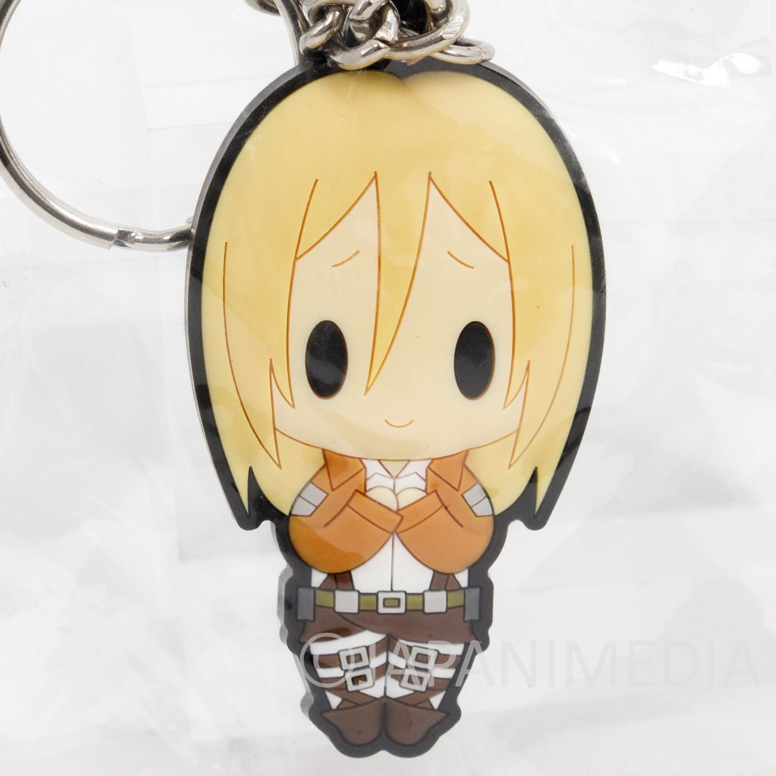 Attack on Titan Krista Lenz Rubber Mascot Keychain JAPAN ANIME