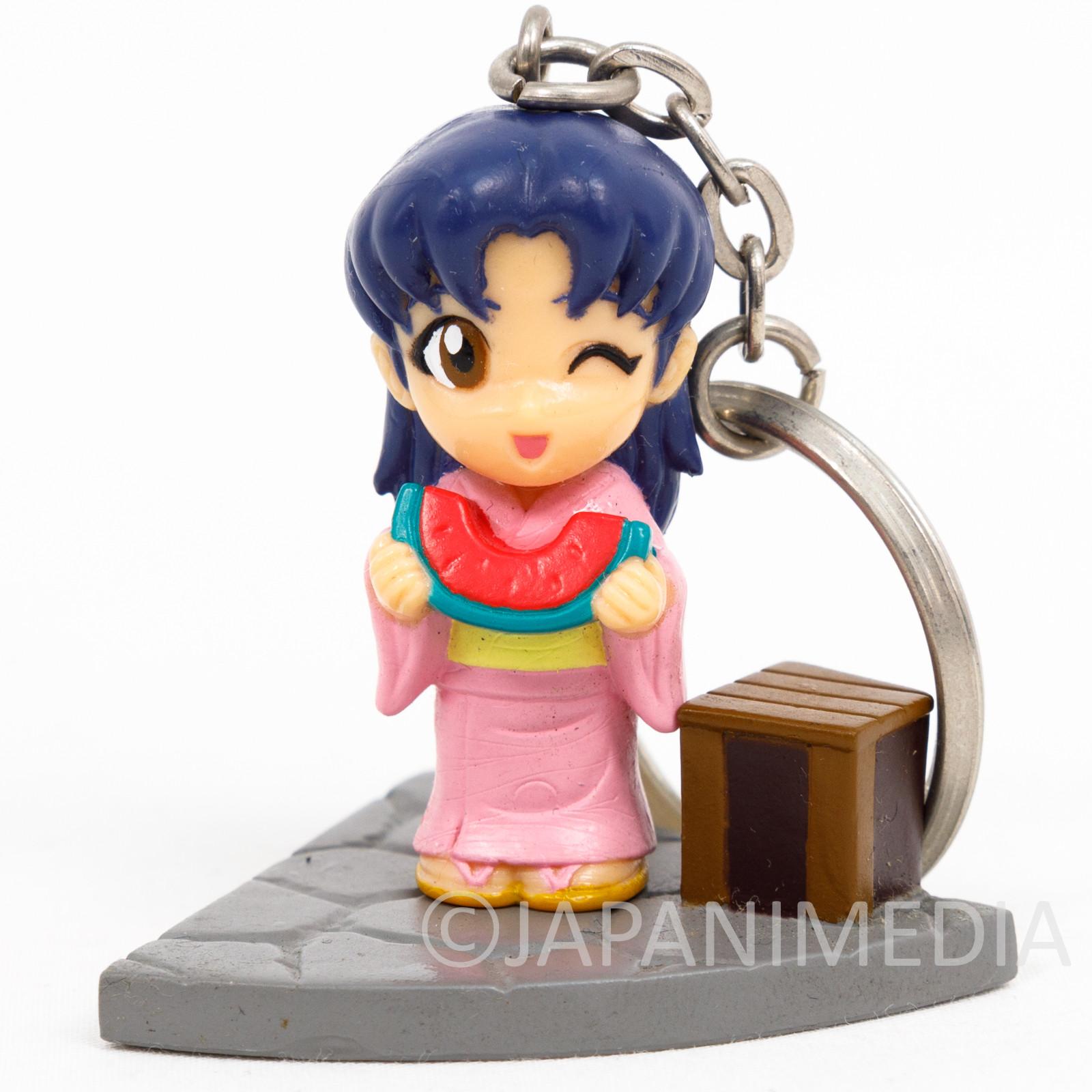 Evangelion Misato Katsuragi Yukata Kimono ver. Figure Keychain SEGA JAPAN