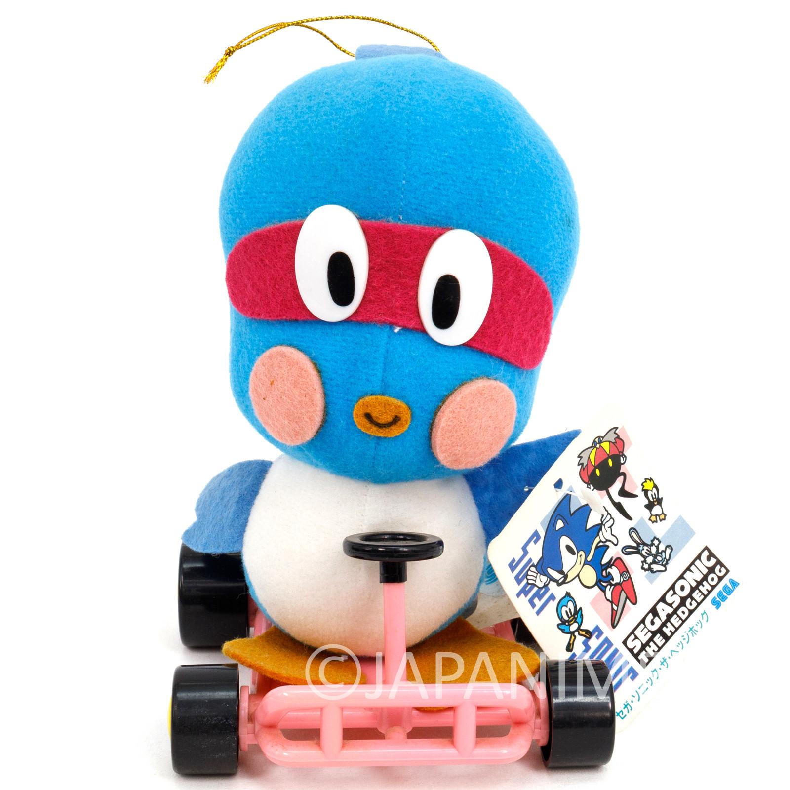 Retro RARE! Sonic The Hedgehog Flicky on Cart Plush Doll SEGA JAPAN