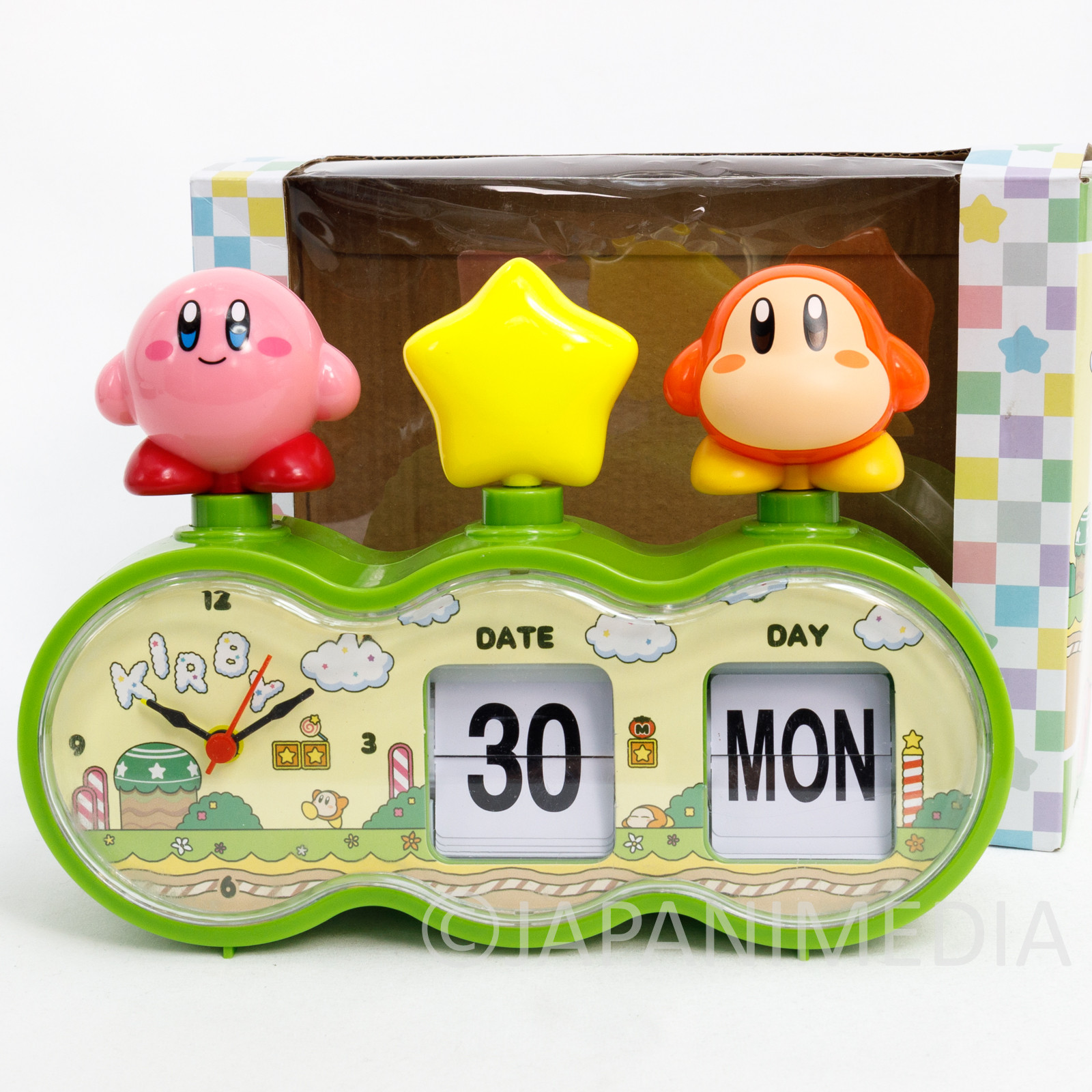Kirby Super Star Figure Calendar Clock SK JAPAN GAME NINTNEDO