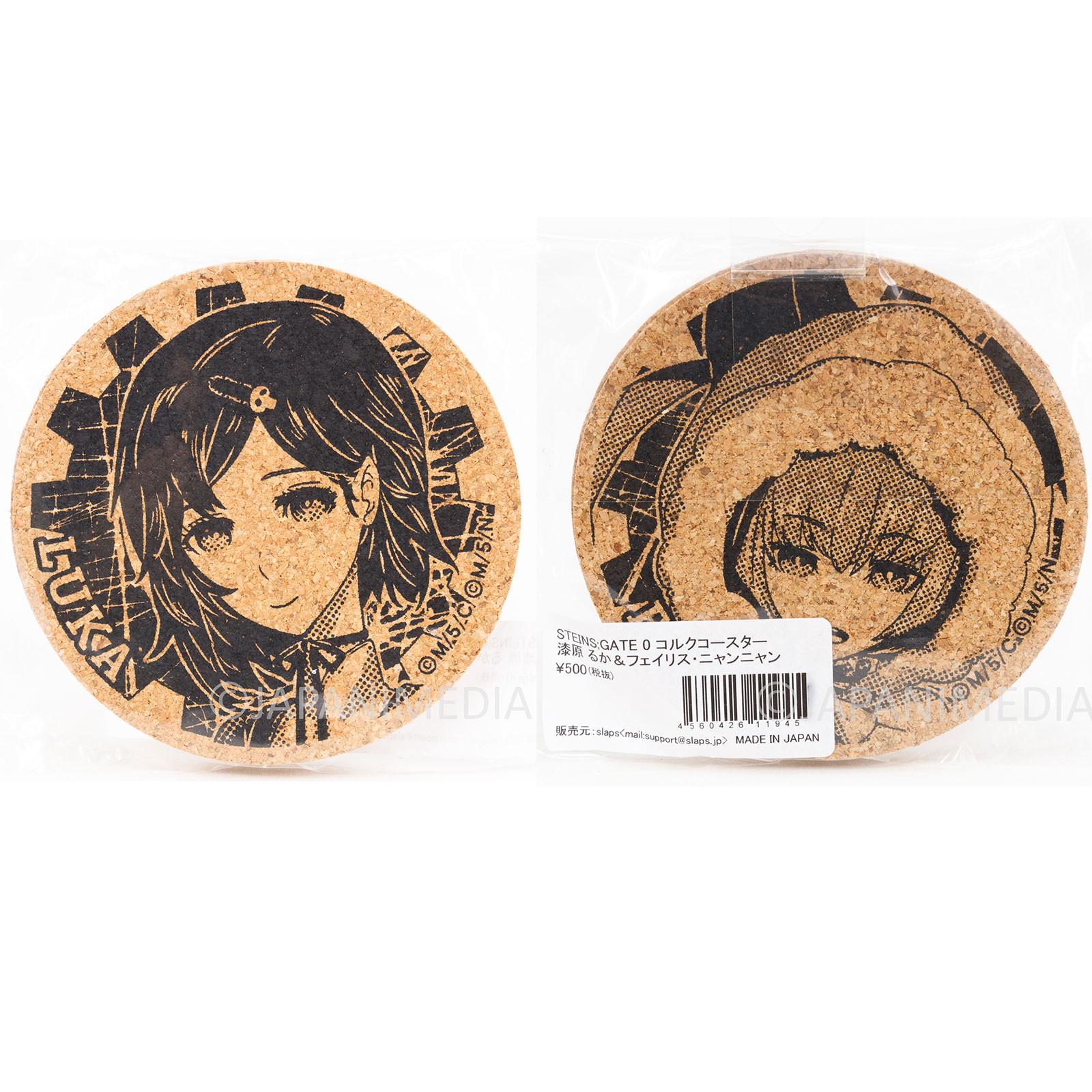 Steins ; Gate Ruka Urushibara & Faris Nyannyan Cork Coaster set JAPAN ANIME
