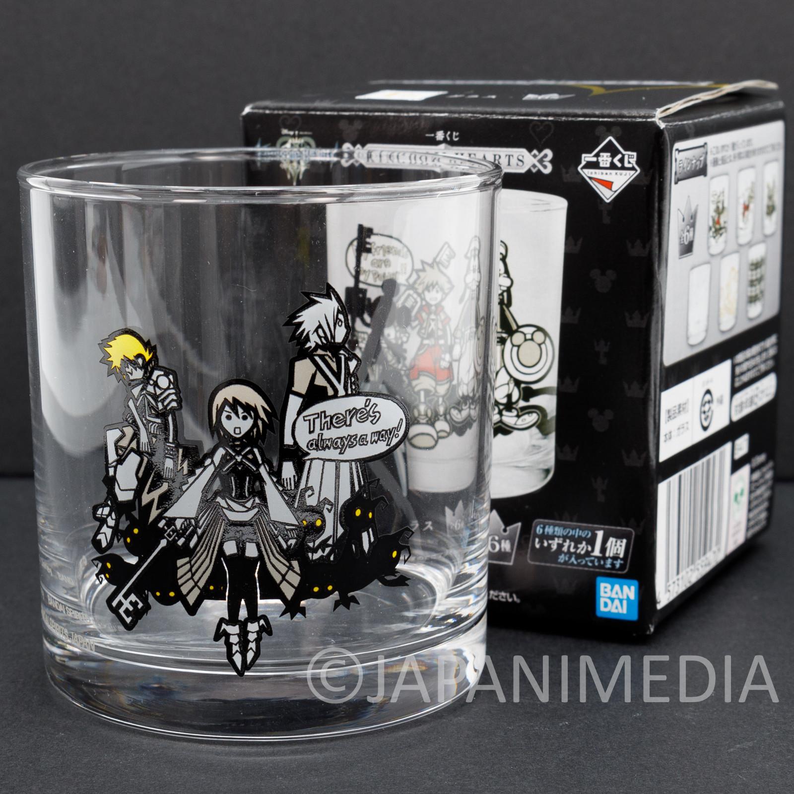 Kingdom Hearts Glass #3 BANDAI JAPAN GAME SQUARE ENIX