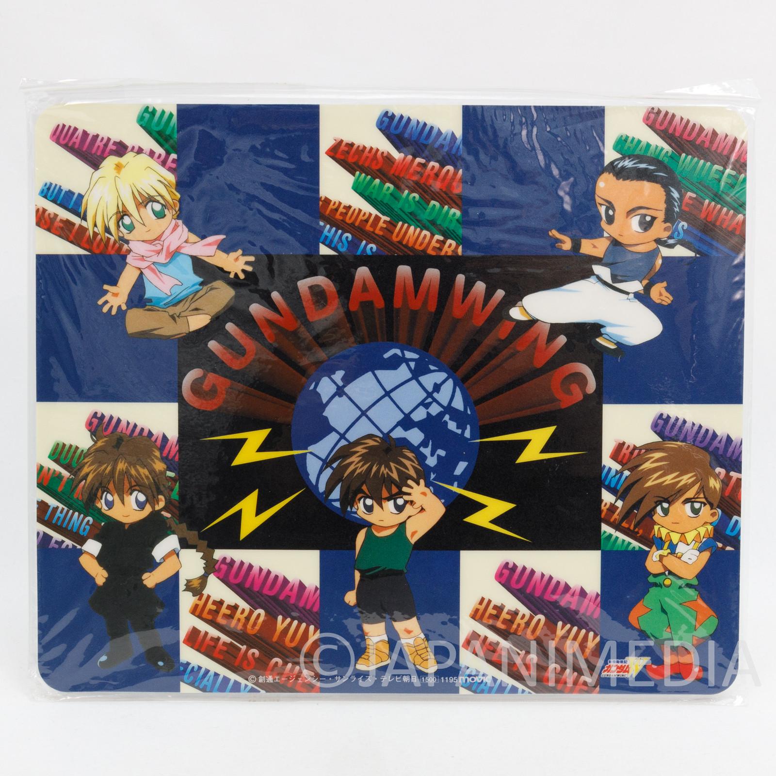 Gundam Wing Heero Duo Trowa Quatre Wufei Mouse Pad Movic JAPAN ANIME