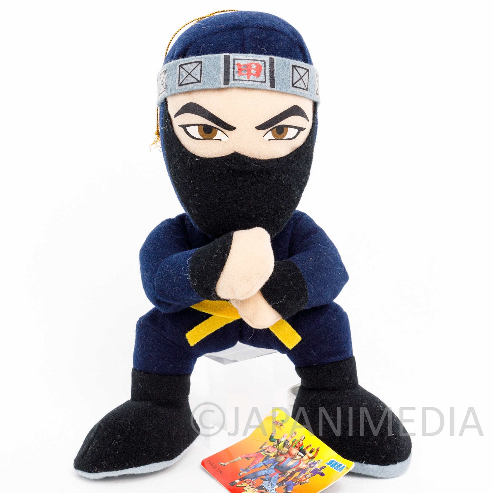 "Virtua Fighter Kagemaru Plush Doll 8"" SEGA 1994 JAPAN"