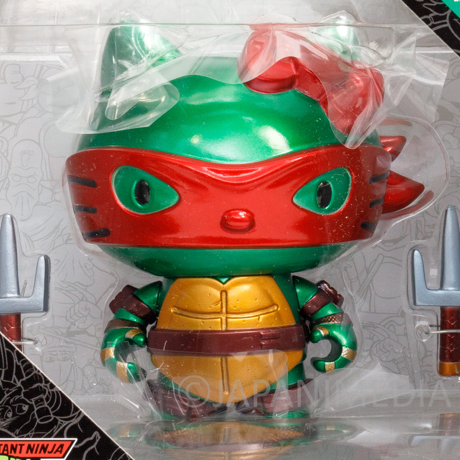 TMNT Teenage Mutant Ninja Turtles x Hello Kitty Raphael Figure JAPAN