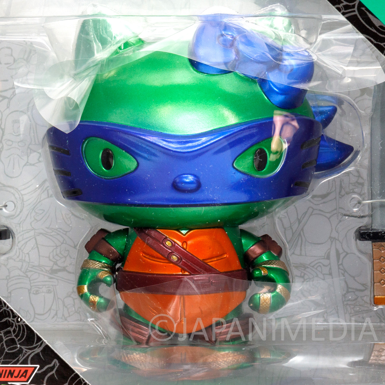 TMNT Teenage Mutant Ninja Turtles x Hello Kitty Leonardo Figure JAPAN