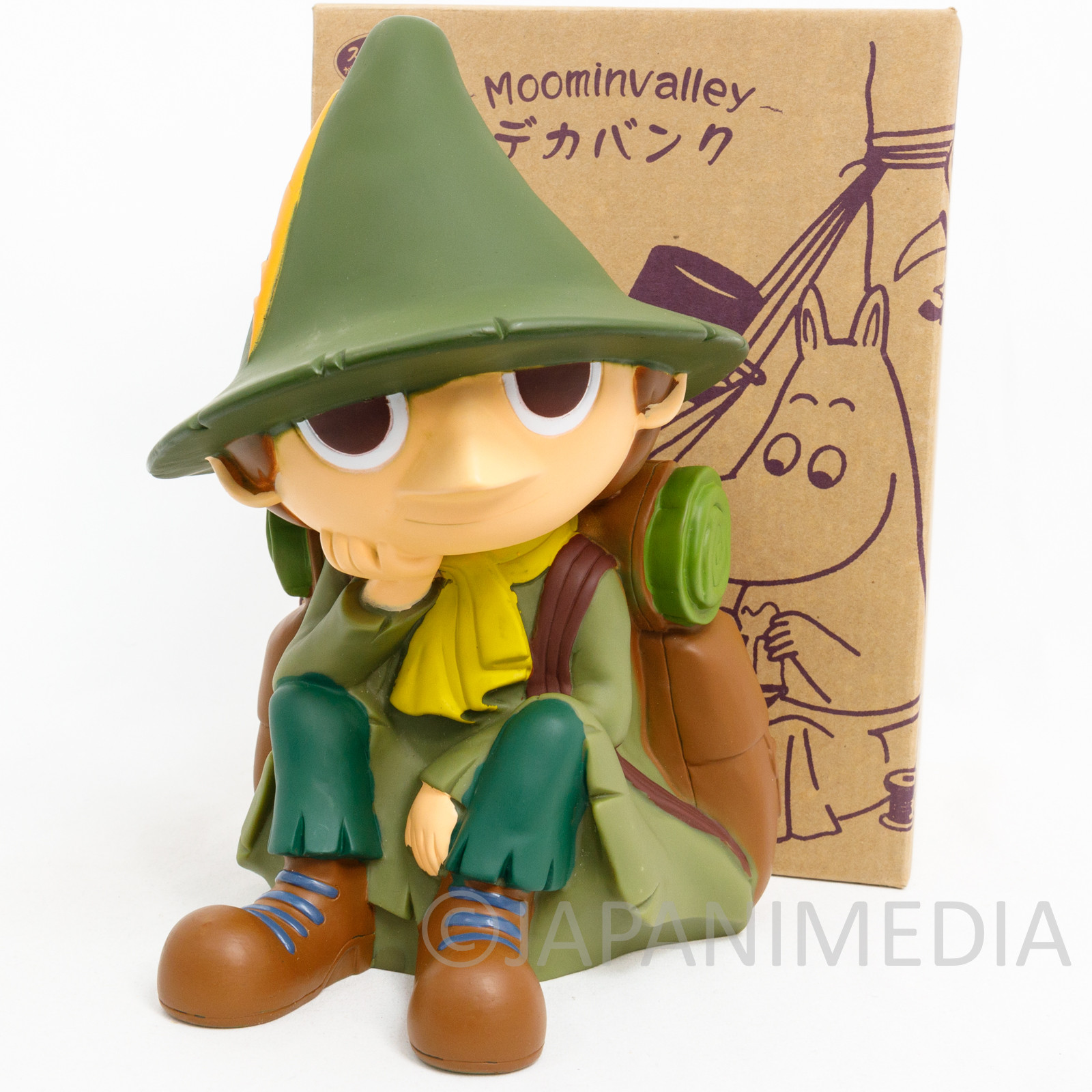 "Moomin Valley Snafkin 9"" Soft Vinyl Figure Coin Bank JAPAN ANIME"
