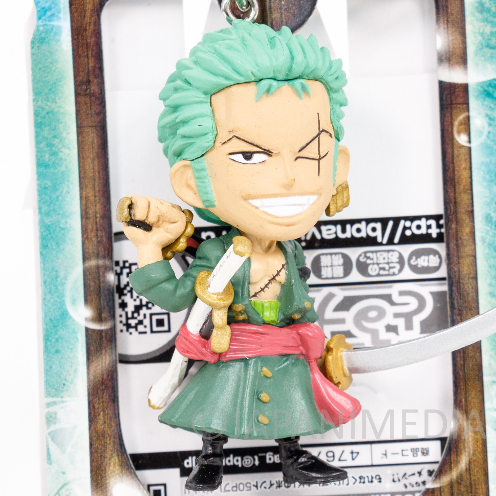 One Piece Roronoa Zoro Figure Keychain Banpresto JAPAN ANIME