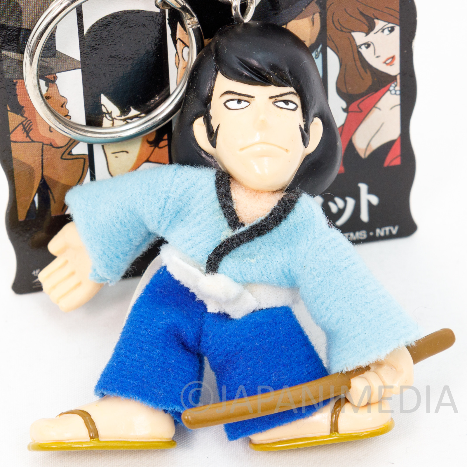 Lupin the Third (3rd) Goemon Ishikawa Figure Doll Keychain Banpresto JAPAN ANIME