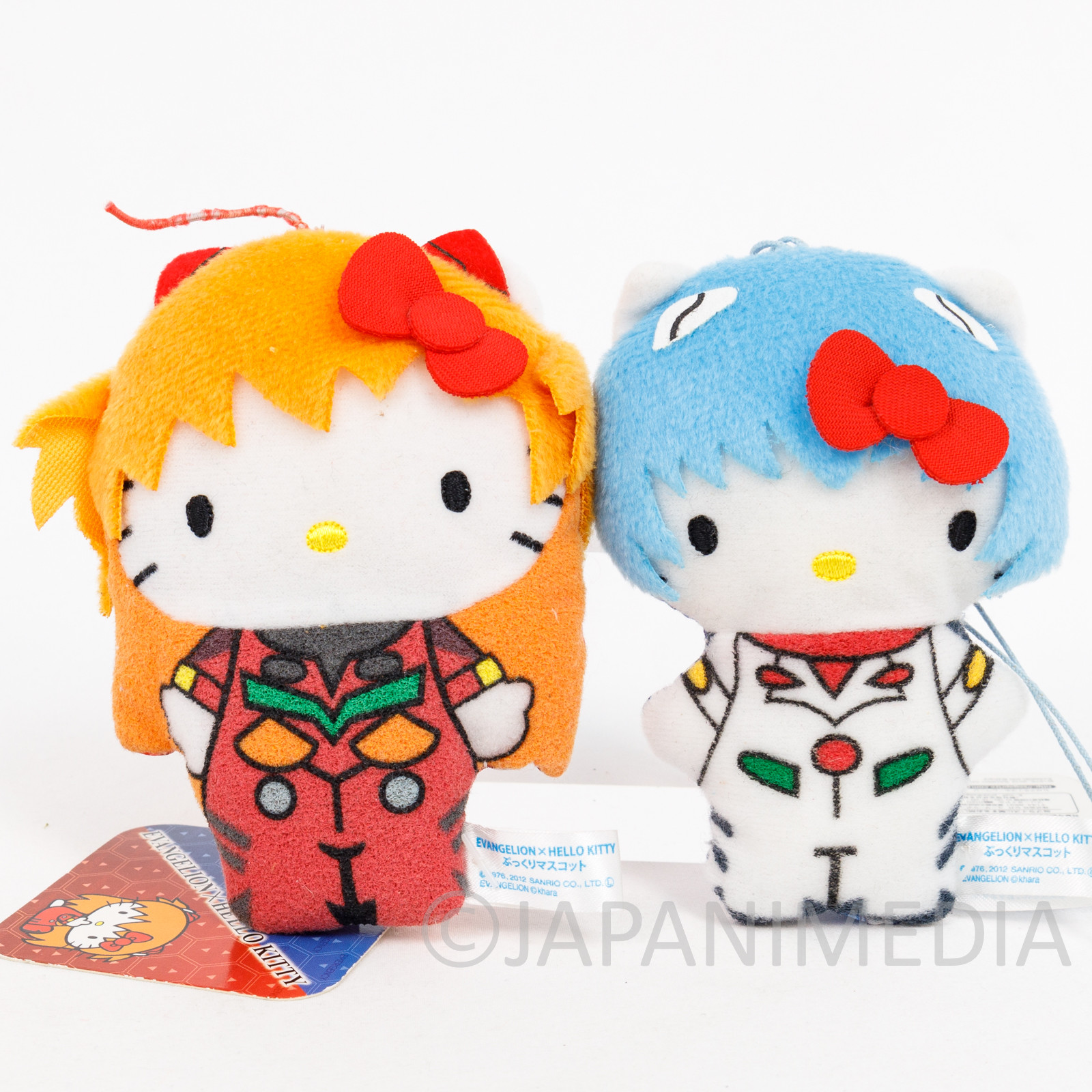 Evangelion x Hello Kitty Small Plush Doll Set Rei Ayanami + Asuka Langley