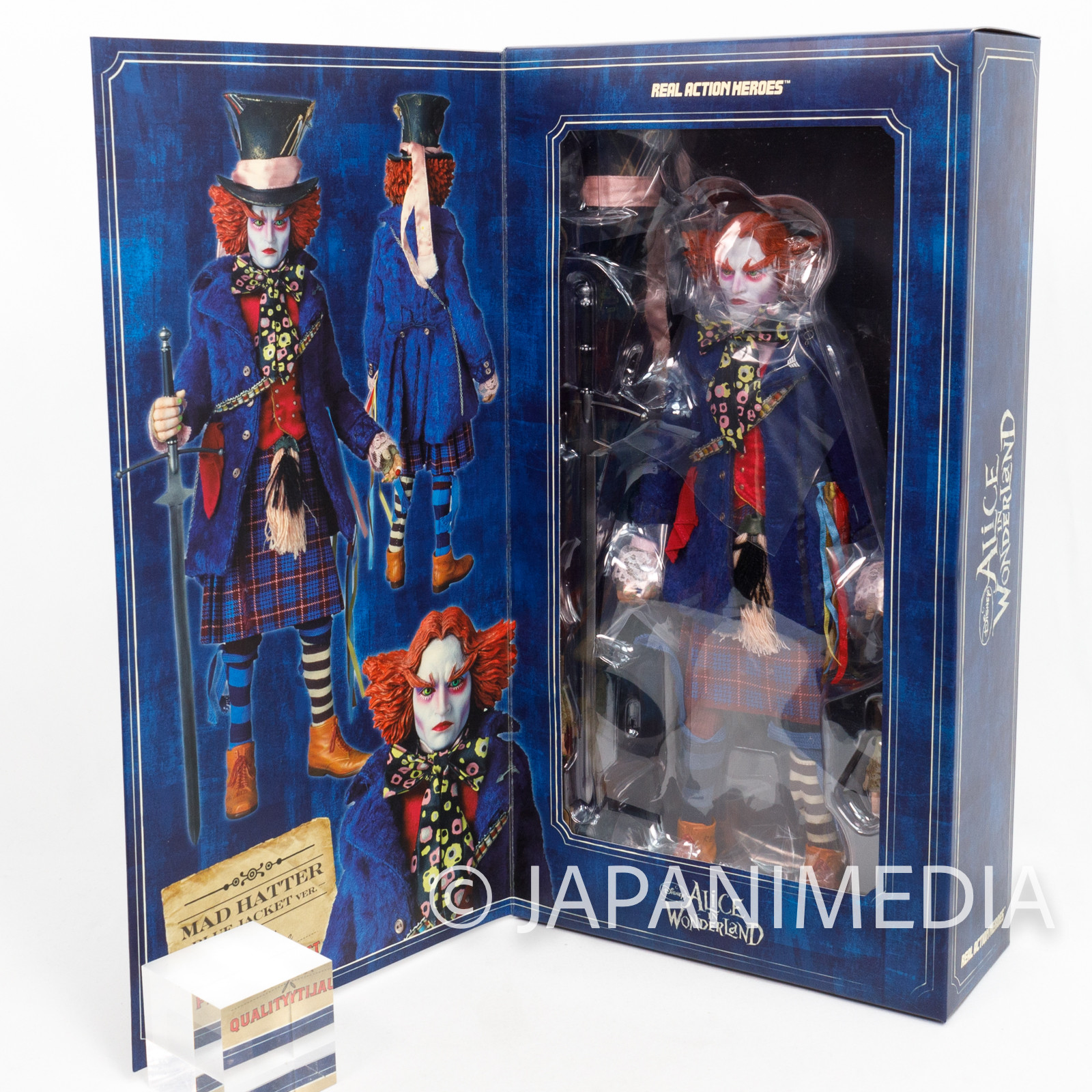 Alice in Wonderland MAD HATTER Johnny Depp Real Action Heroes Figure Medicom