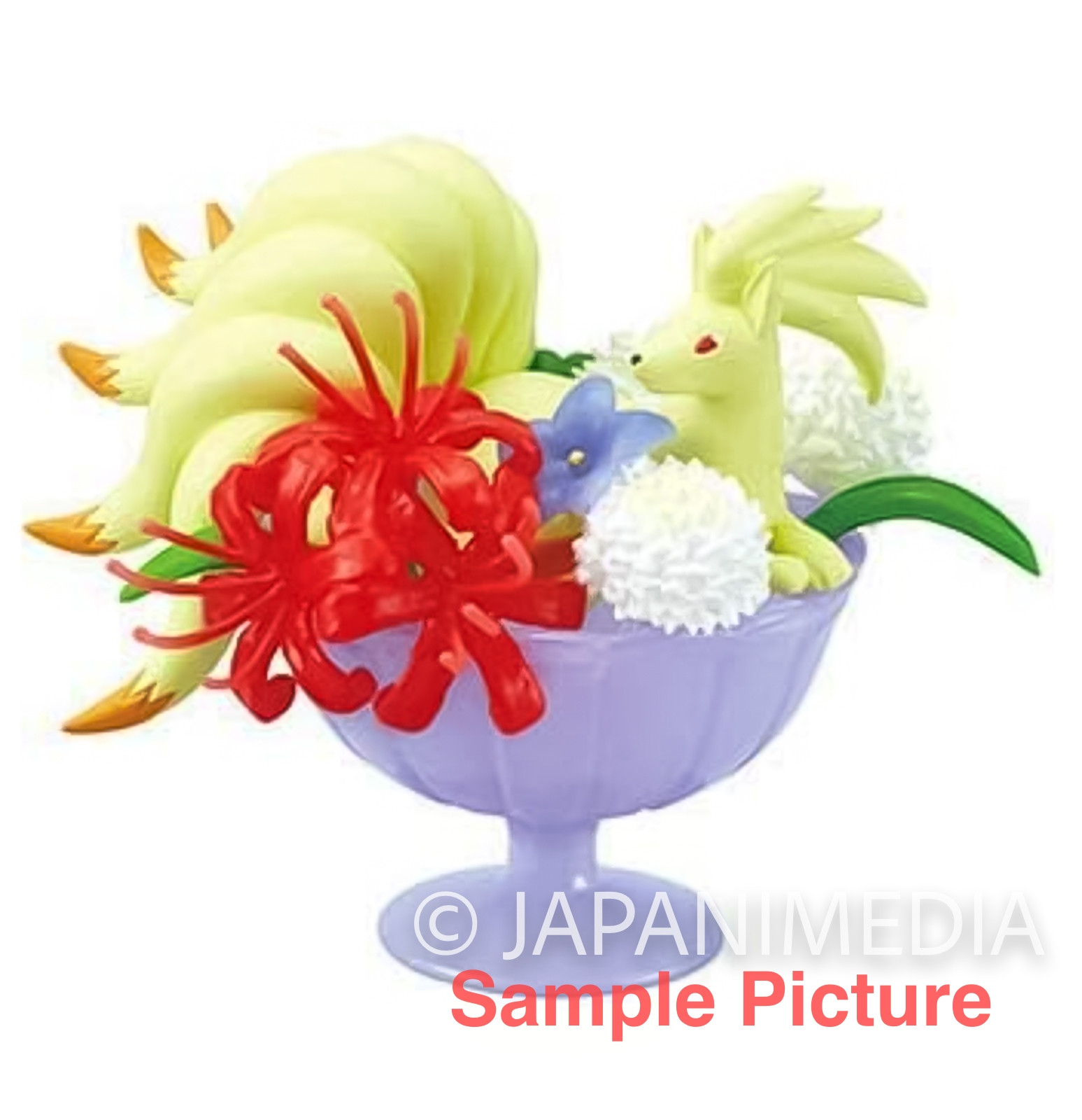 Pokemon Floral Cup Collection Mini Figure NINETALES Re-ment JAPAN ANIME