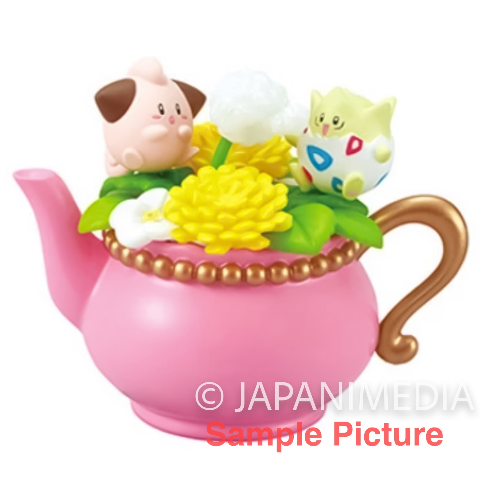 Pokemon Floral Cup Collection Mini Figure CLEFFA & TOGEPI Re-ment JAPAN ANIME
