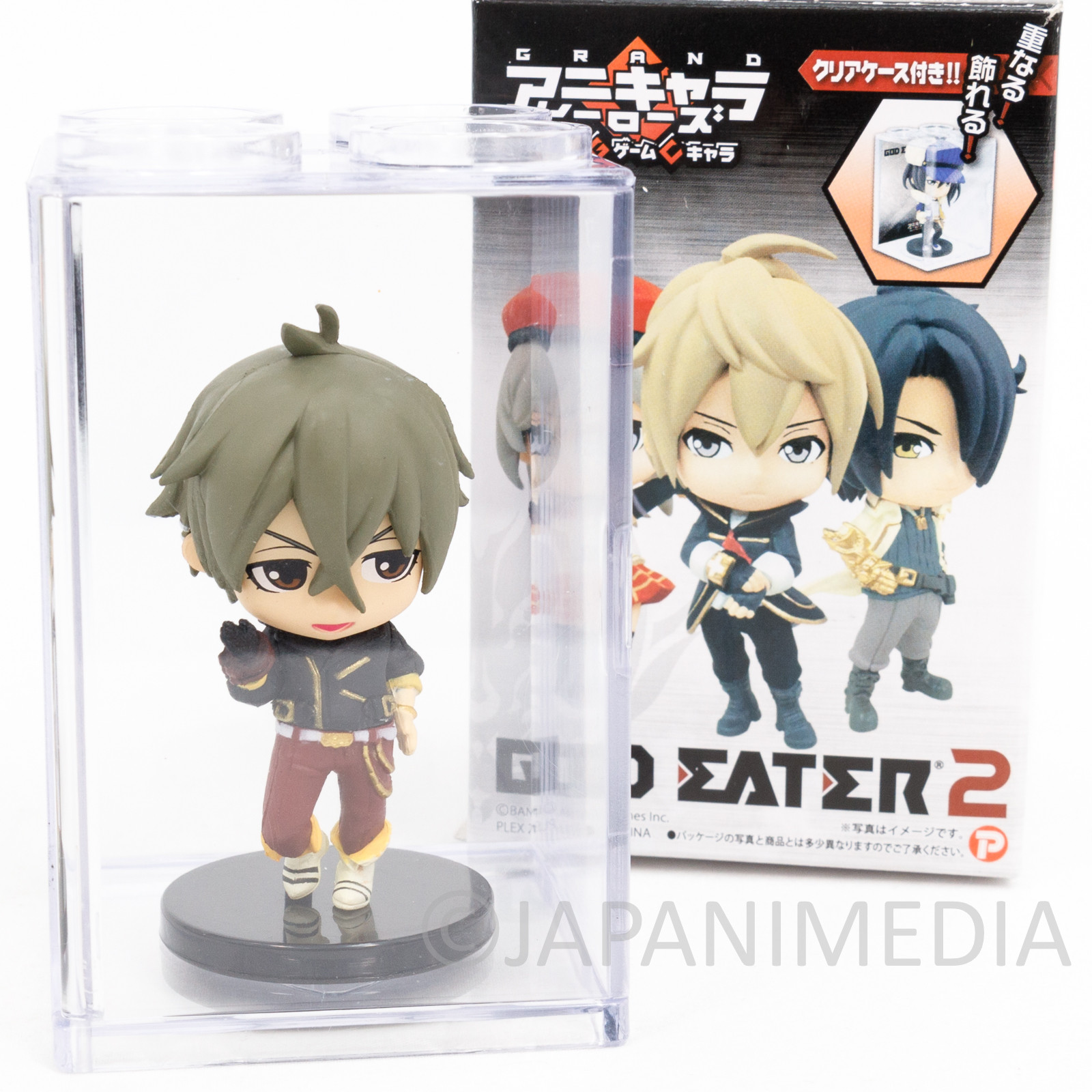 God Eater 2 Rage Burst Haruomi Makabe Figure in Clear Case JAPAN GAME PSP