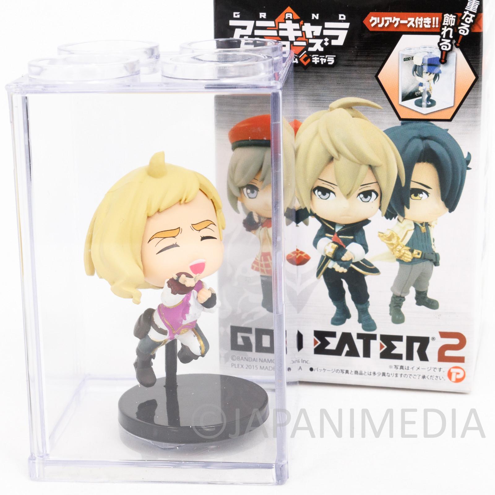 God Eater 2 Rage Burst Emil von Strasbourg Figure in Clear Case JAPAN GAME PSP