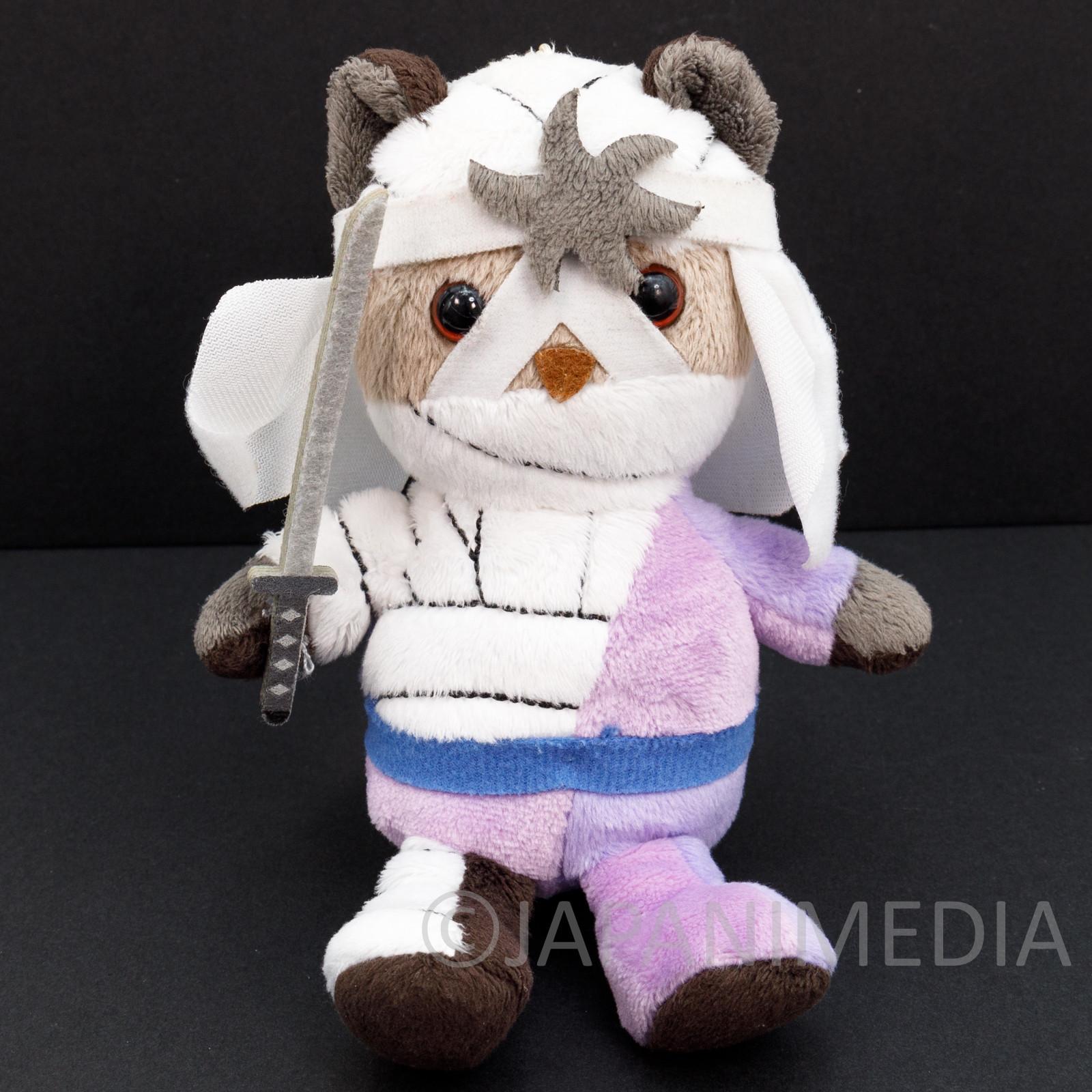 Rurouni Kenshin Shishio Makoto Bear Mascot Plush Doll Ballchain JAPAN