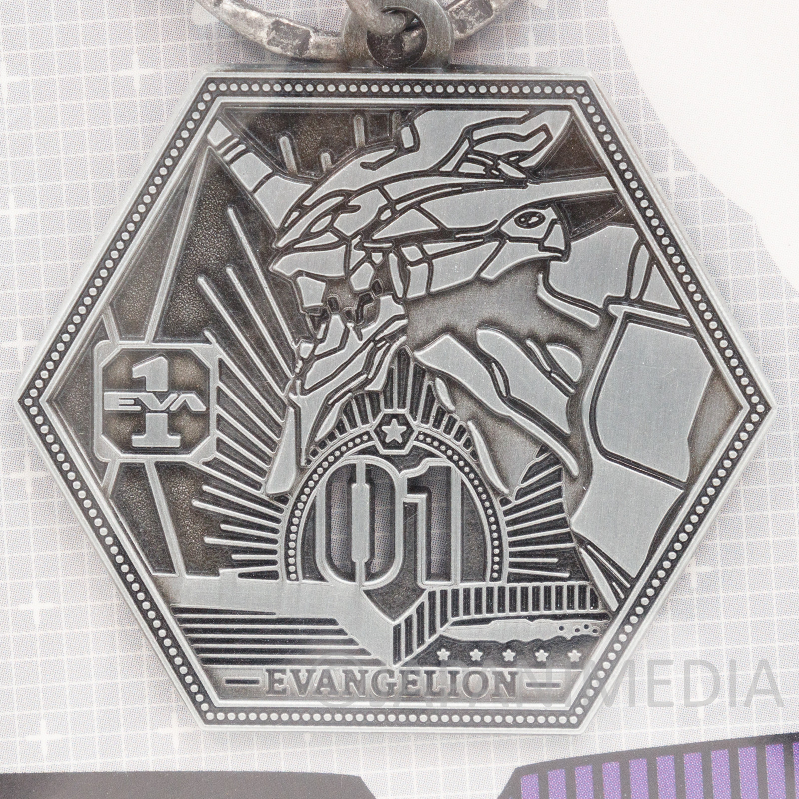 Evangelion EVA-01 Metal Charm Keychain JAPAN