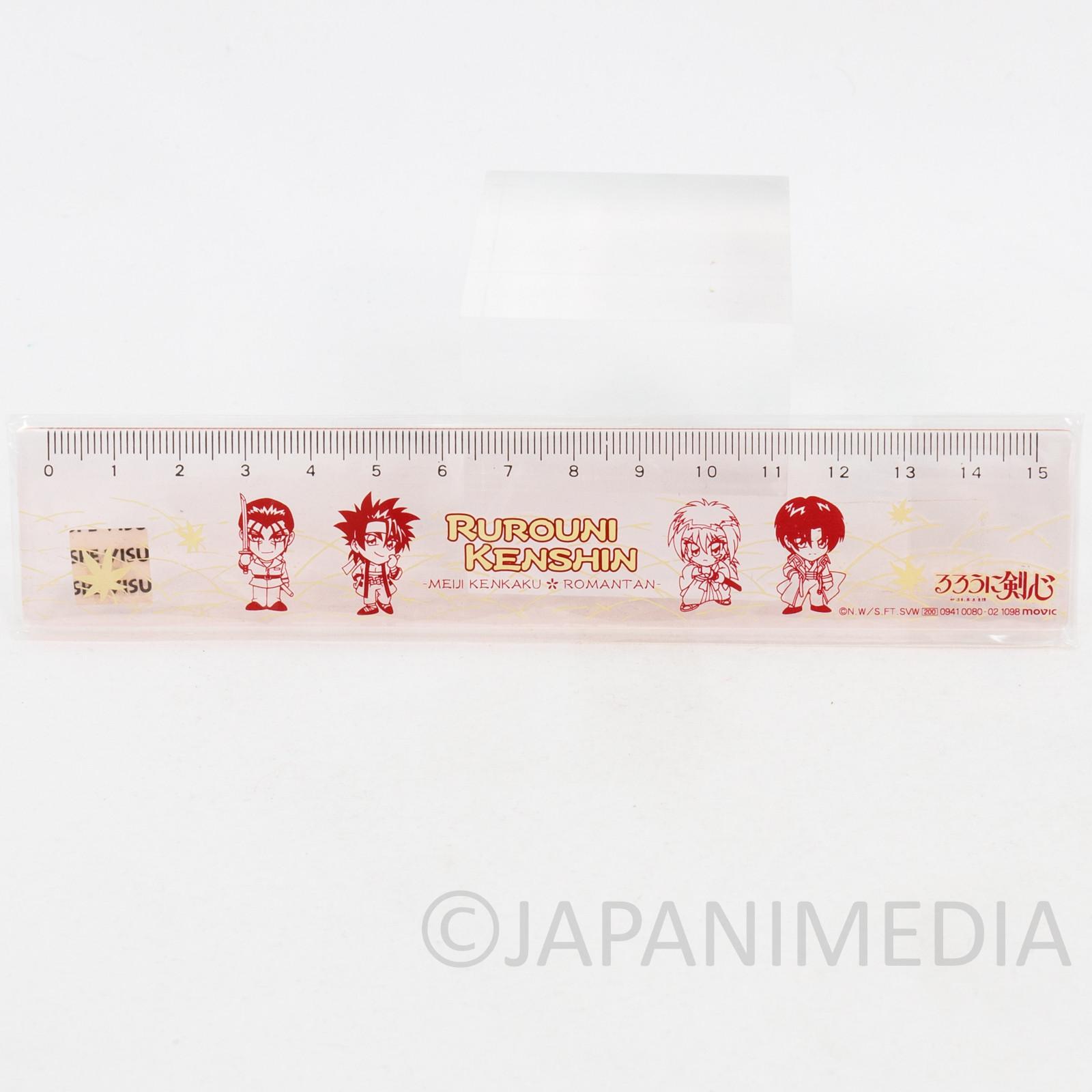 Retro Rurouni Kenshin Plastic Ruler 15cm JAPAN ANIME