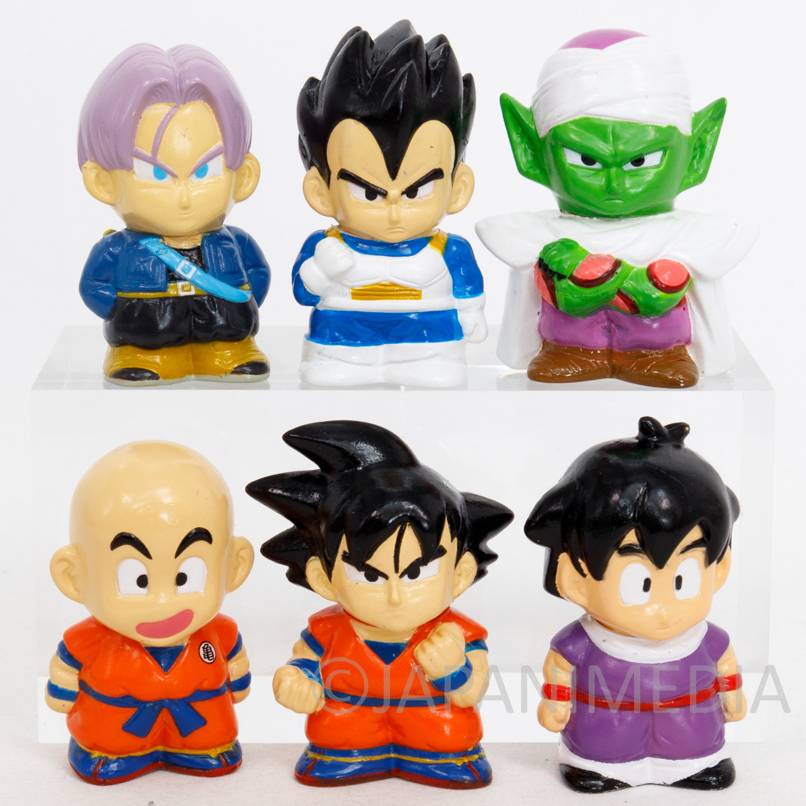 Dragon Ball Soft Vinyl Figure 6pc Set Gokou Gohan Piccolo Vegeta Trunks Krillin