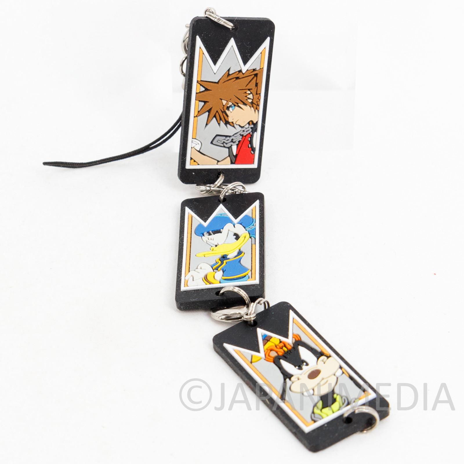Kingdom Hearts SORA DONALD GOOFY Triple Rubber Mascot Strap