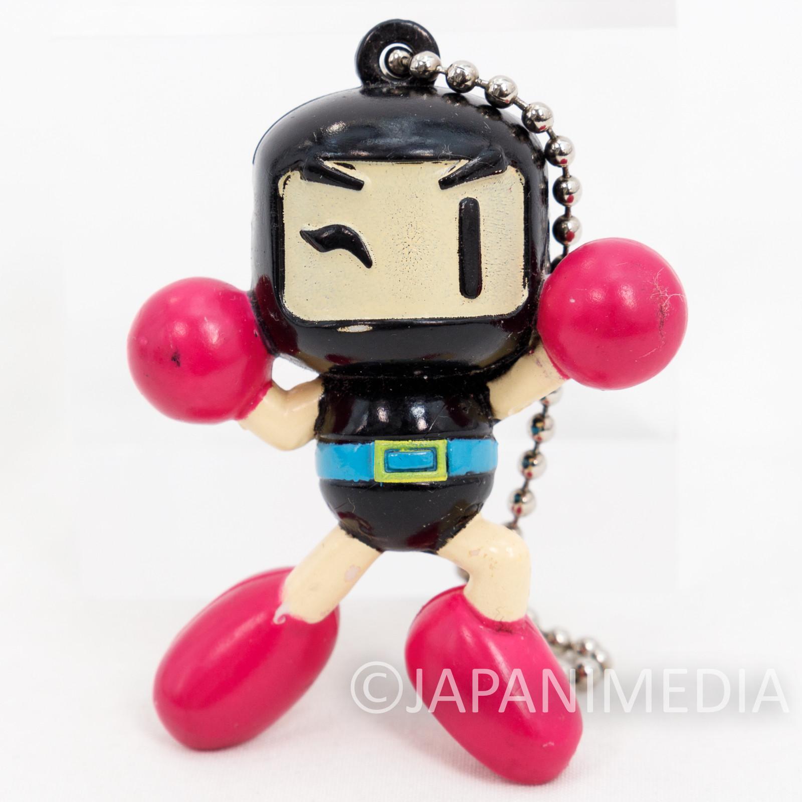 Retro RARE! Black Bomberman Figure Ballchian Hudson JAPAN GAME FAMICOM NES