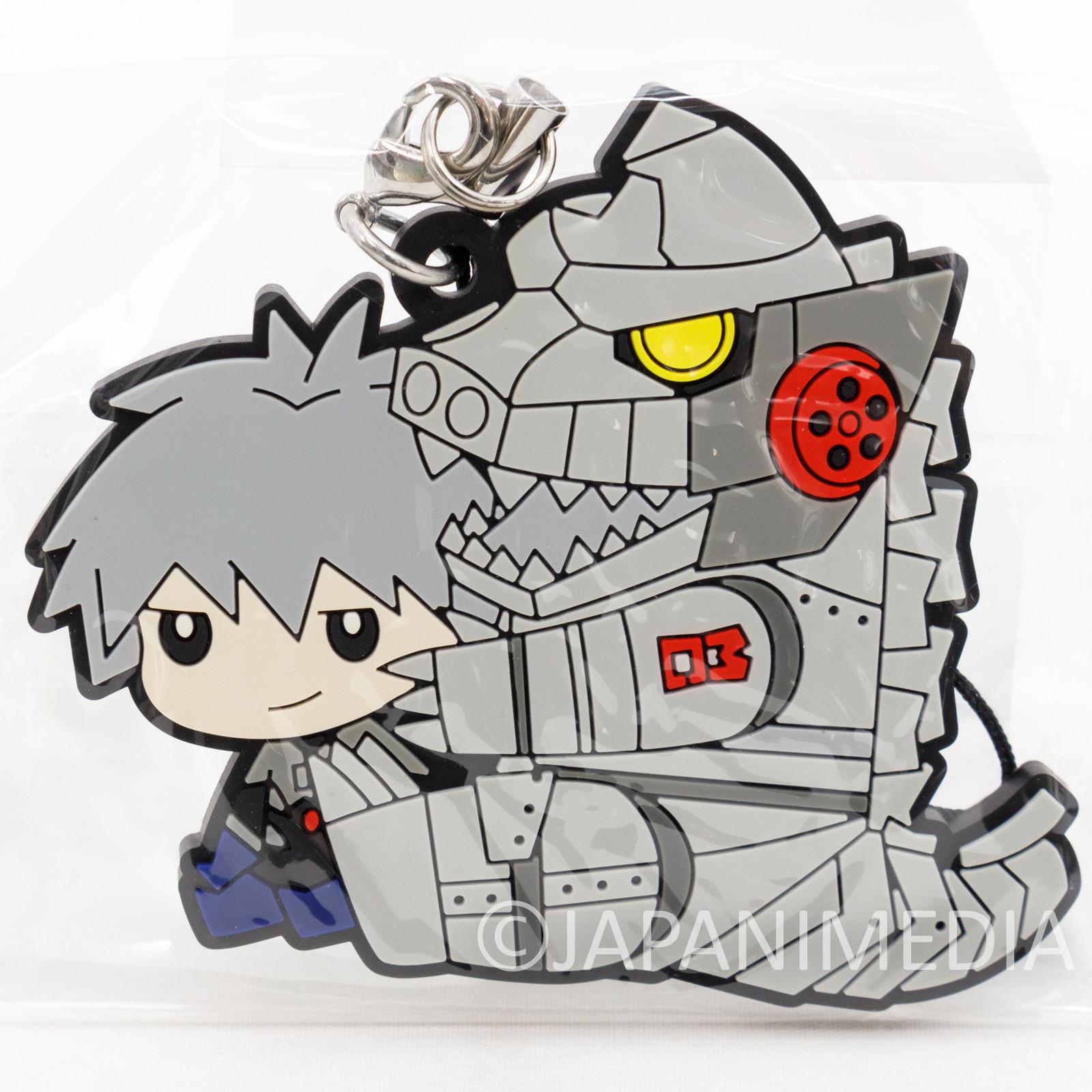 Evangelion Kaworu Nagisa x MechaGodzilla Mascot Rubber Strap JAPAN 2