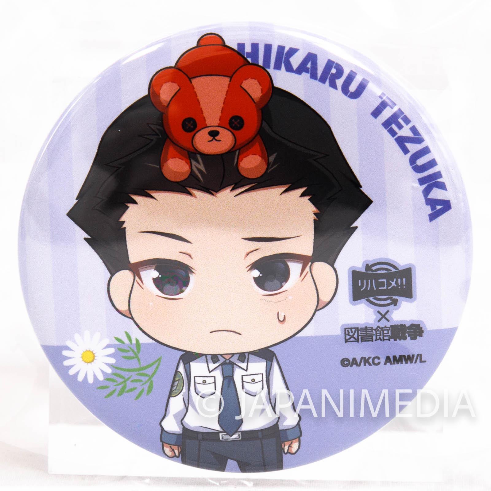 Library War x revacomme!! Hikaru Tezuka Event Button badge JAPAN ANIME