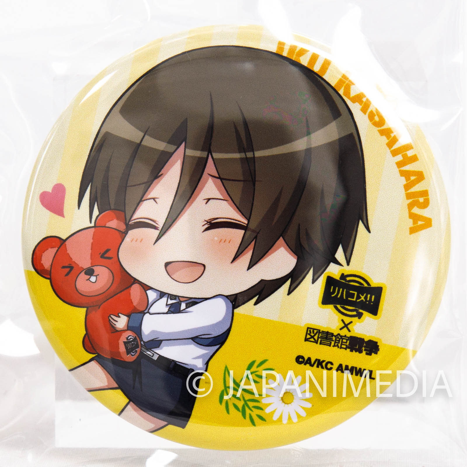 Library War x revacomme!! Iku Kasahara Event Button badge JAPAN ANIME