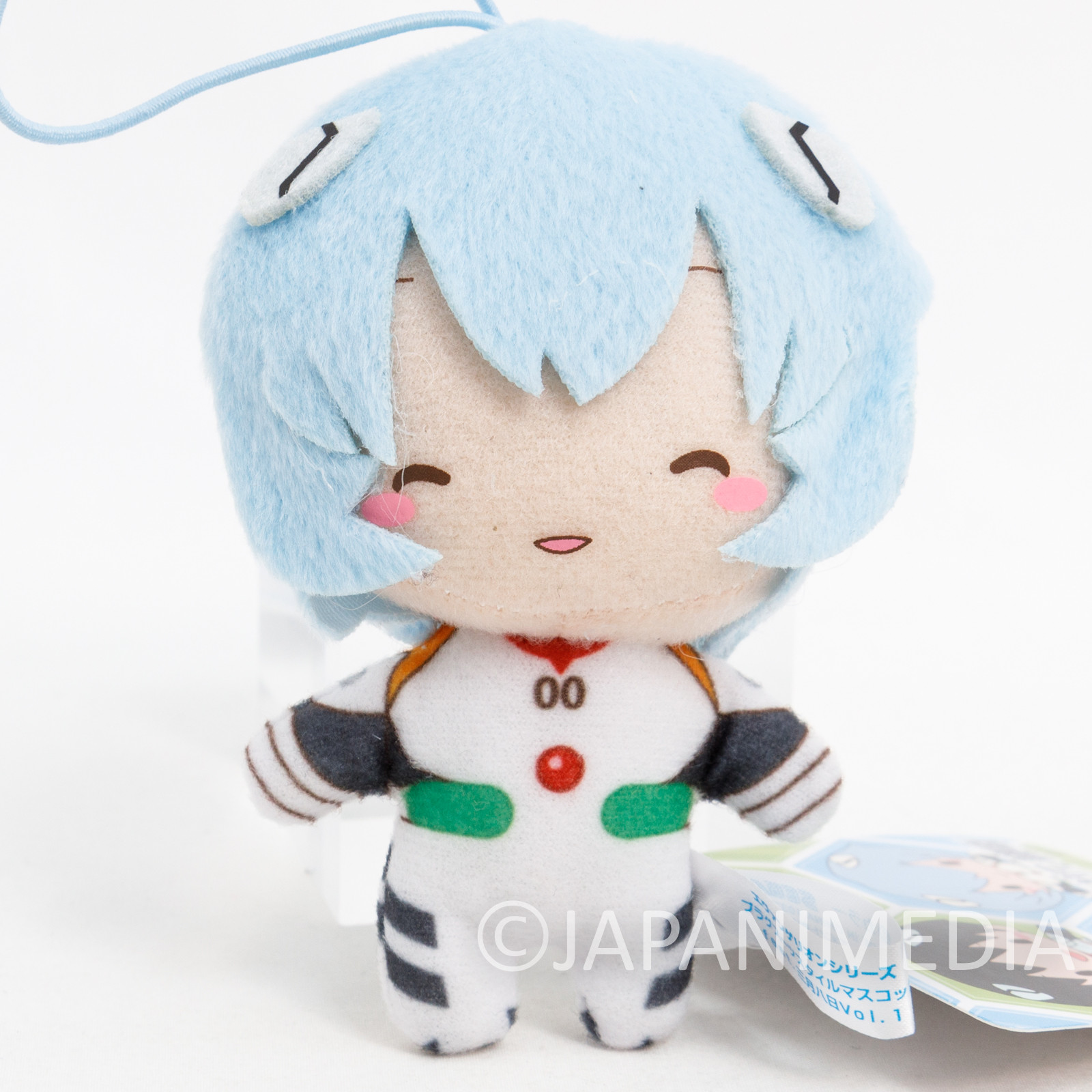 Evangelion Rei Ayanami Plug Suit Smile Mini Plush Doll SEGA JAPAN ANIME MANGA