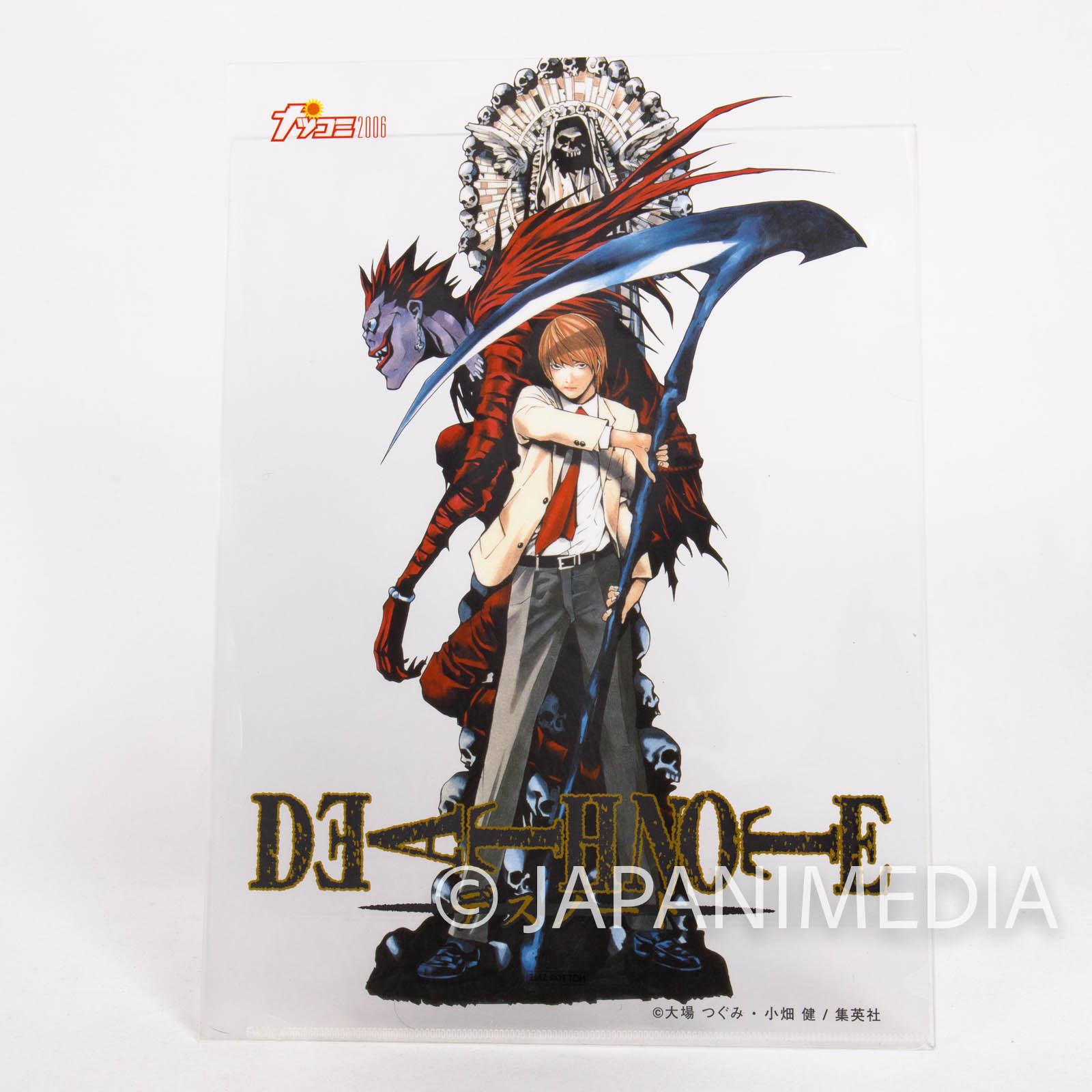 Death Note Clear File Folder Natsucomi 2006 Jump [Light / Ryuk] JAPAN MANGA