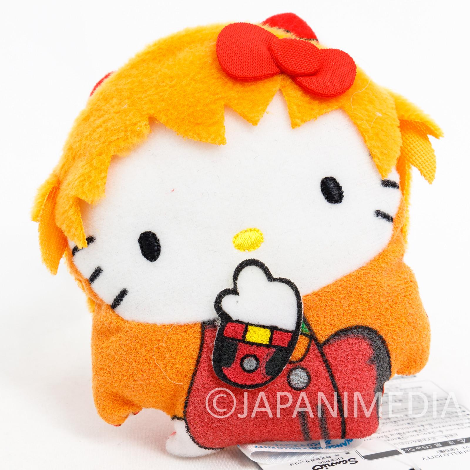 Evangelion x Hello Kitty Asuka Langley Small Plush Doll JAPAN ANIME MANGA