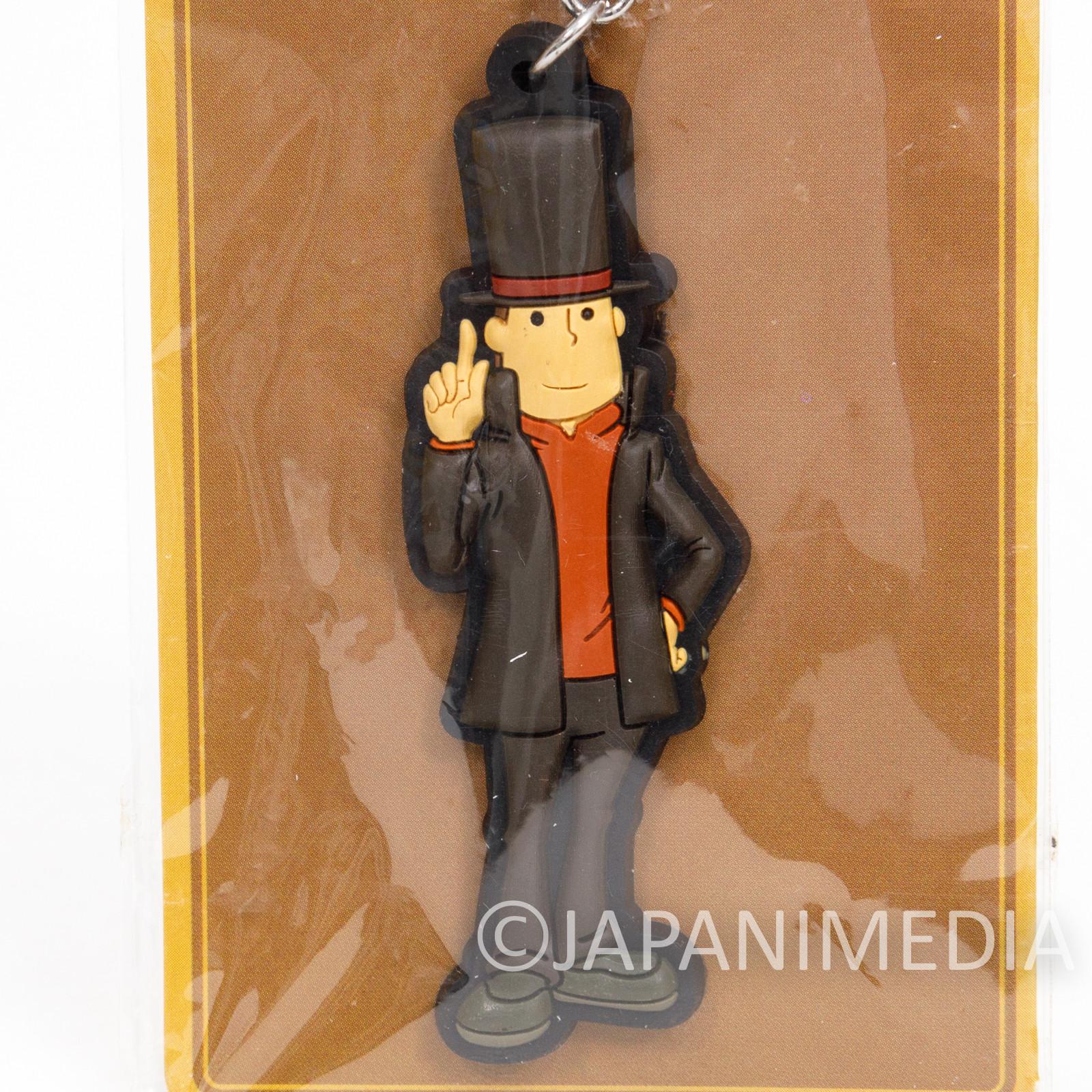 Professor Layton Rubber Mascot Keychain Nintendo DS GAME JAPAN
