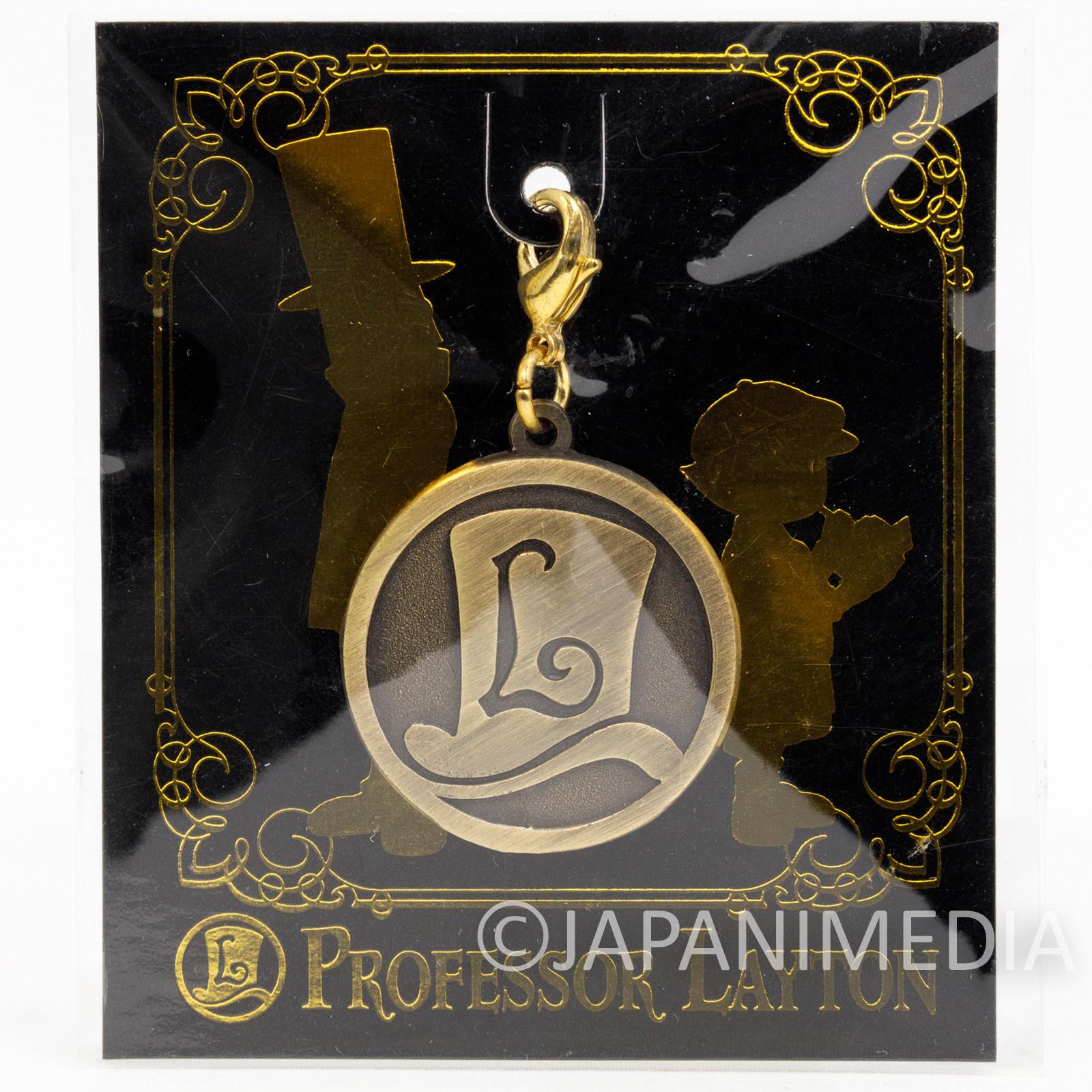 Professor Layton Coin Charm Keychain Nintendo DS GAME JAPAN