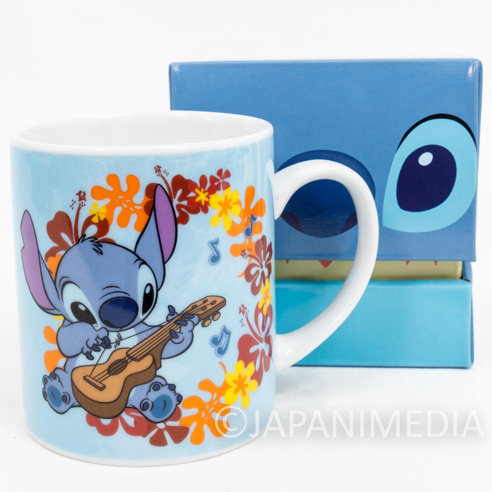 Disney Stitch with Guitar Mug JAPAN ANIME