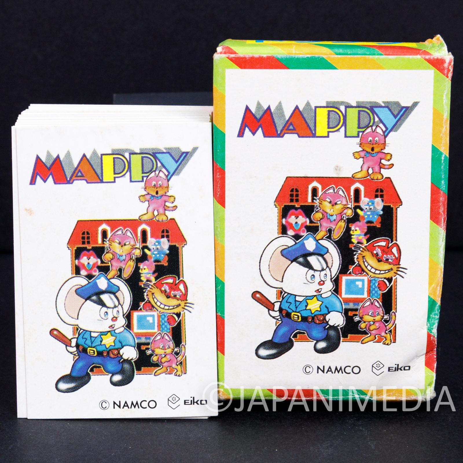Retro RARE! Mappy Small Size Playing Cards Trump Namco JAPAN NES FAMICOM